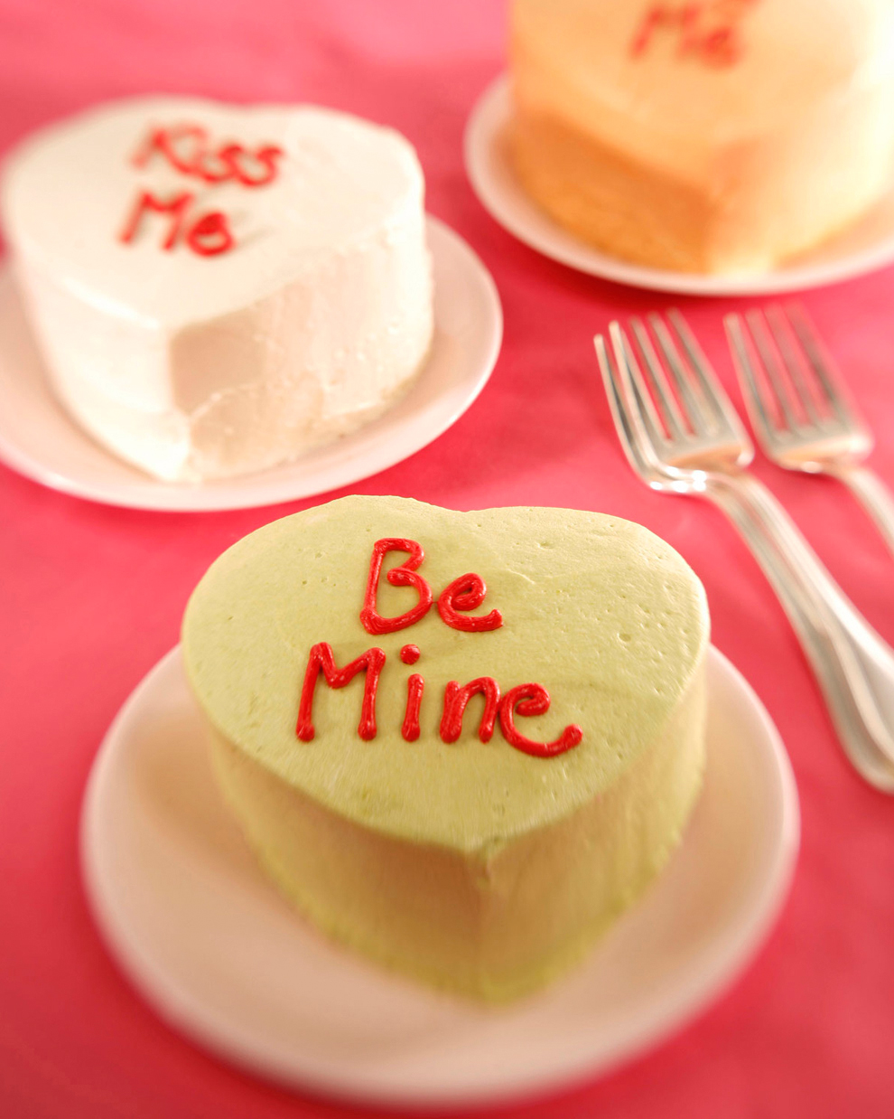 Mini Heart-Shaped Cakes
