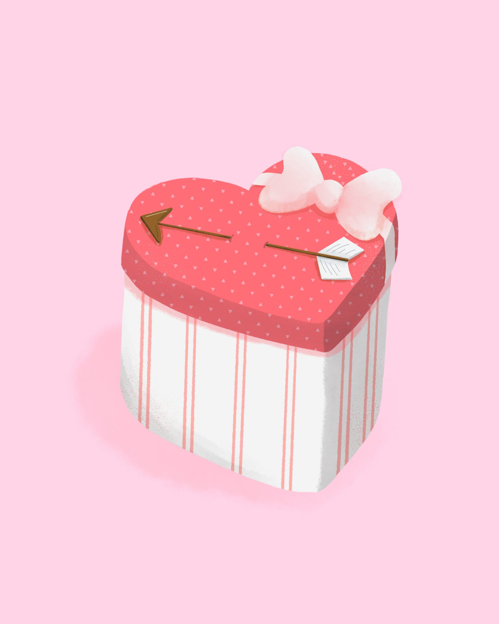Heart-Shaped Valentine's Day Gift Box