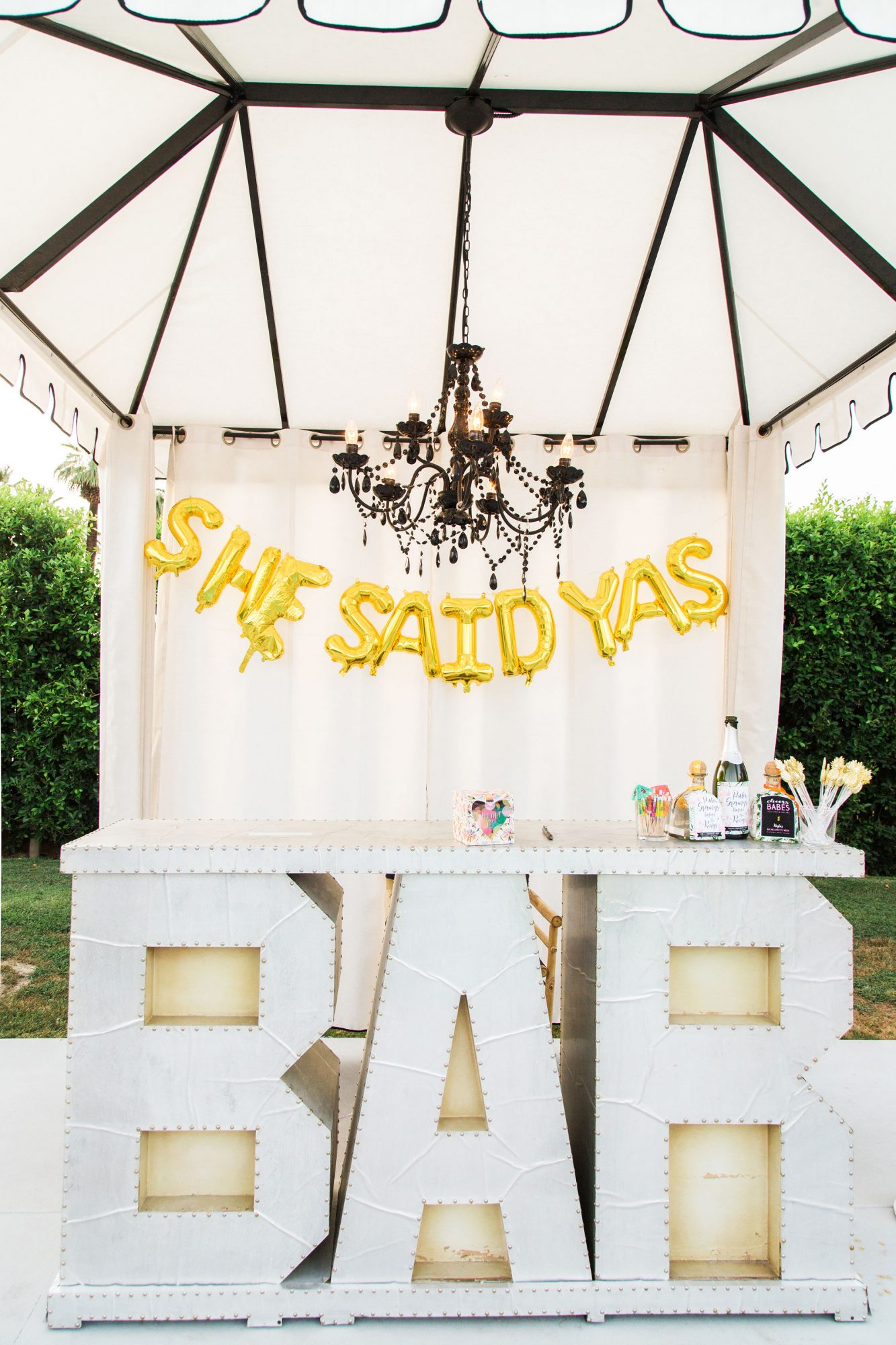 bachelorette party decor bar
