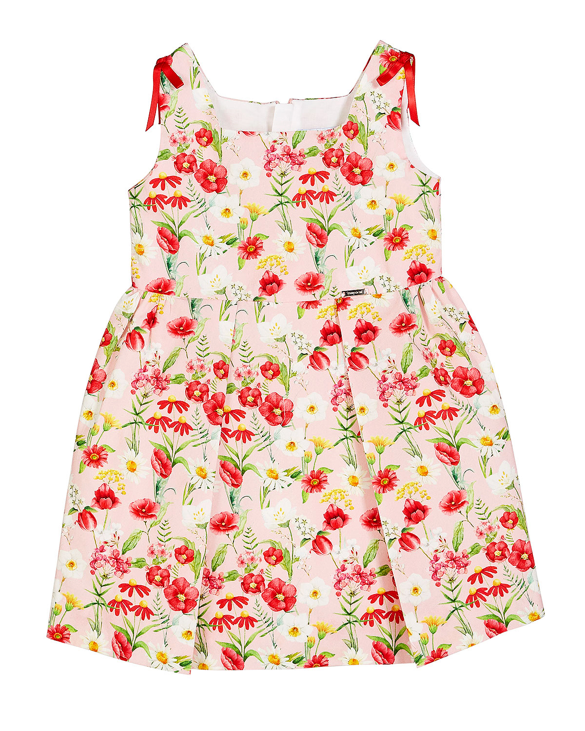 summer flower girl outfit floral patterned dress