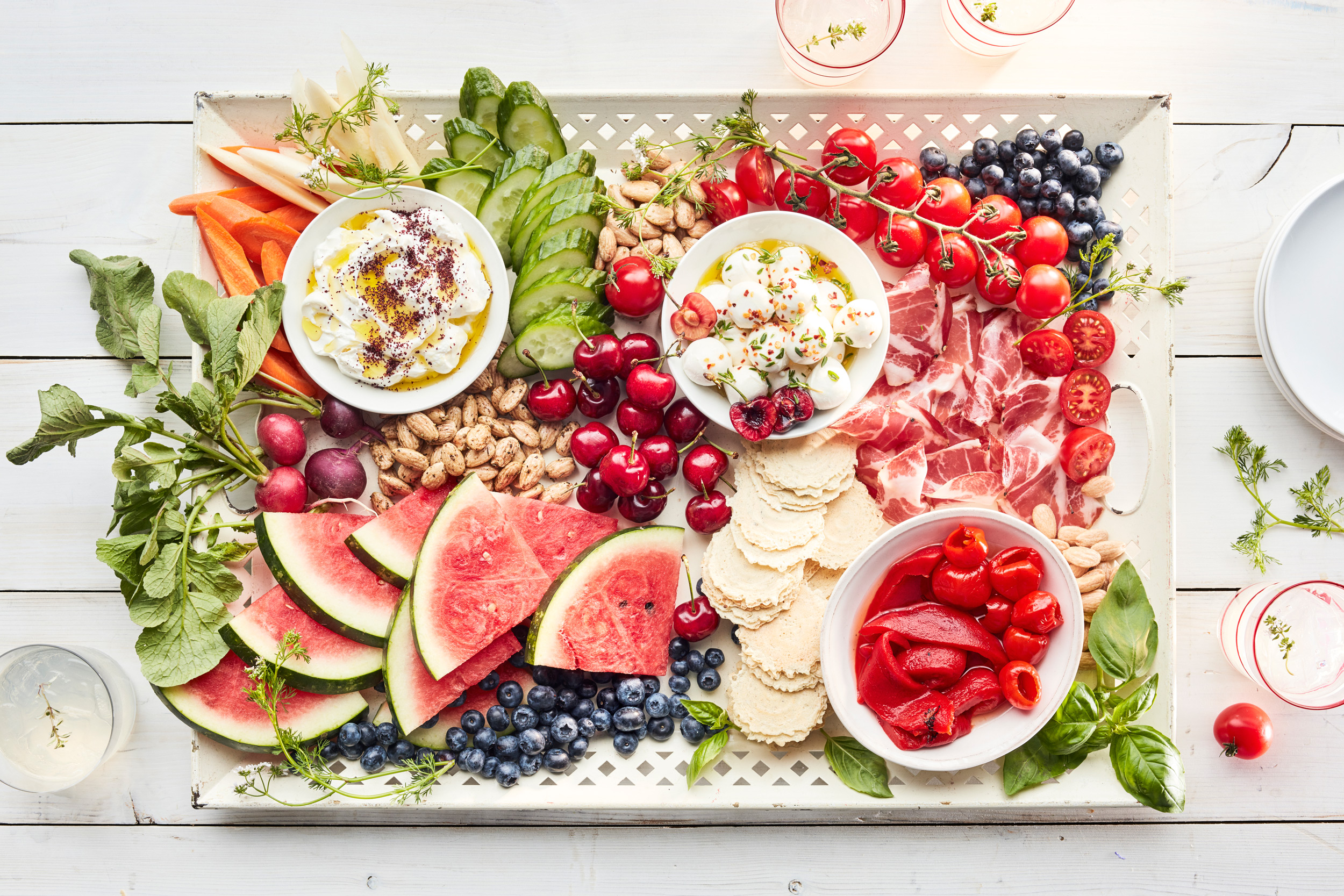 july 4 entertaining appetizer tray