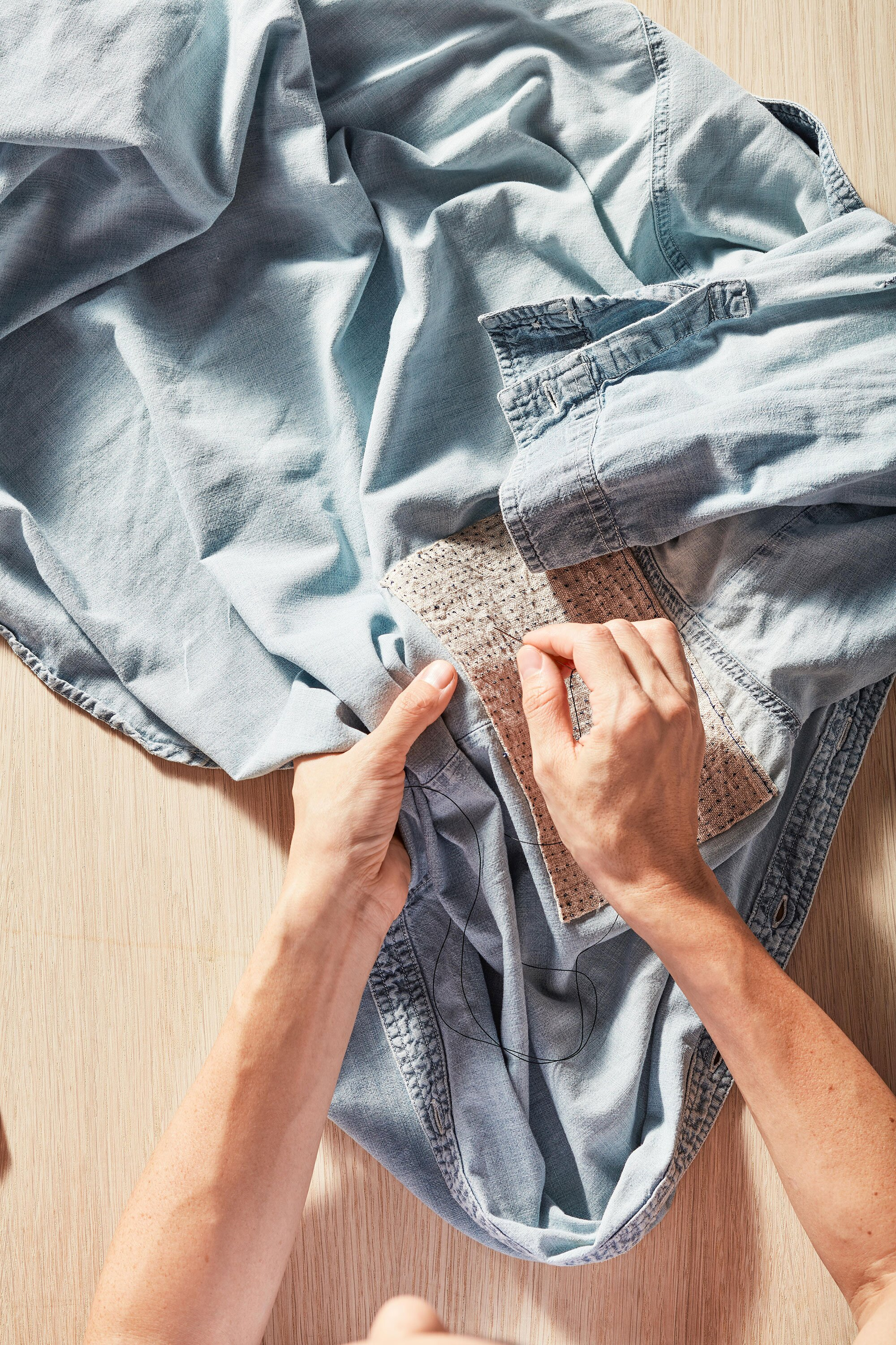 Clothing Repair 101 How To Patch A Hole Mend Seam And
