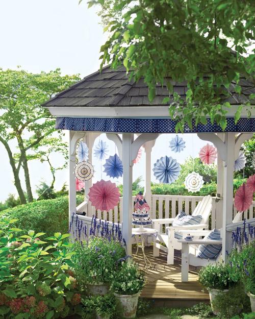Stars-and-Stripes Gazebo Trim