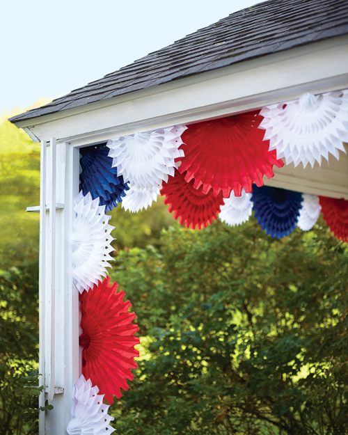 Tissue Paper Fan Decorations