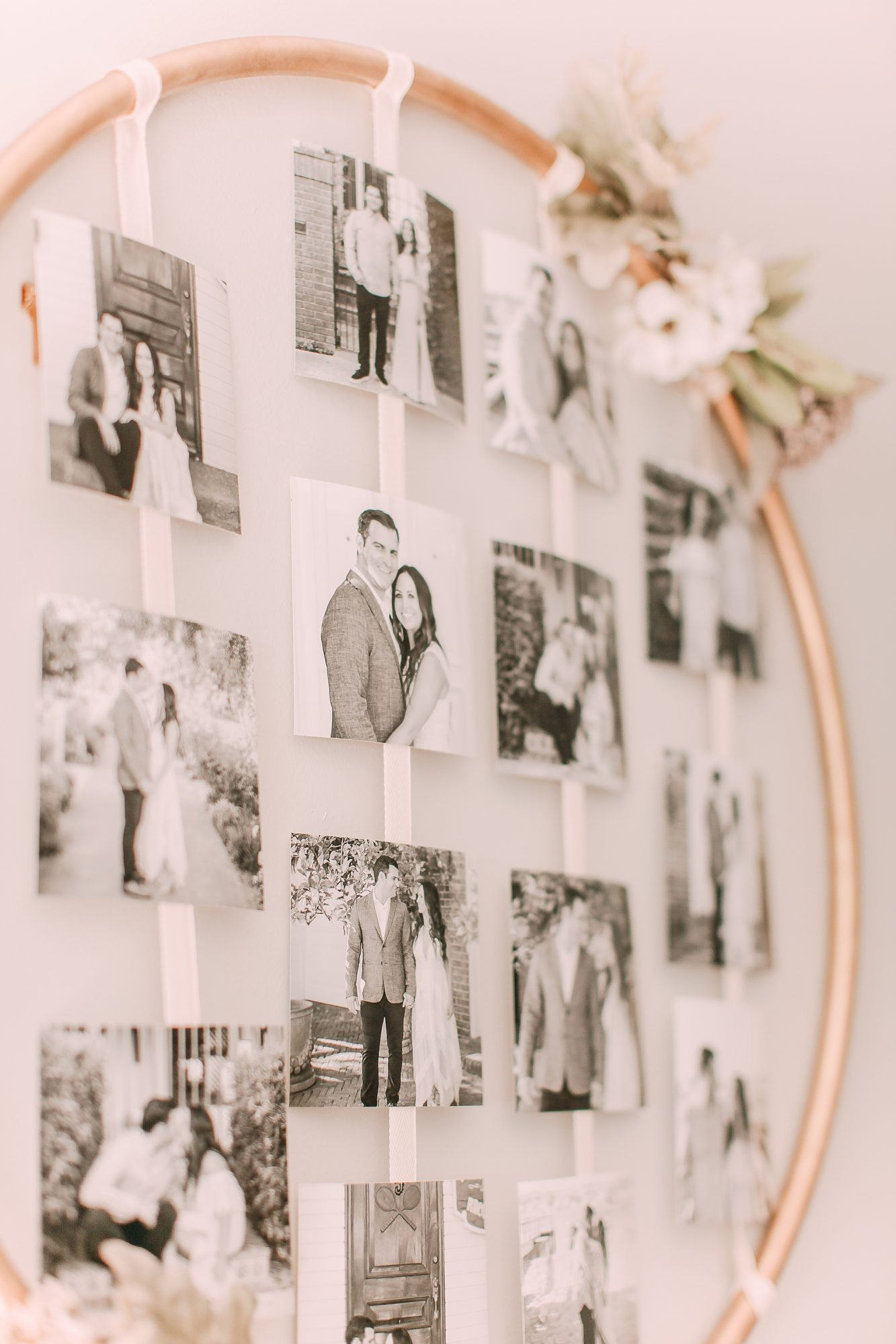 metal hoop photo display