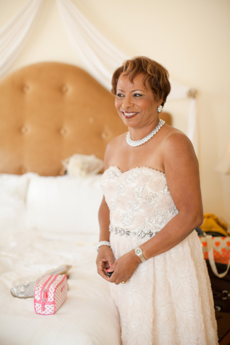 Strapless Blush Mother of the Bride Dress