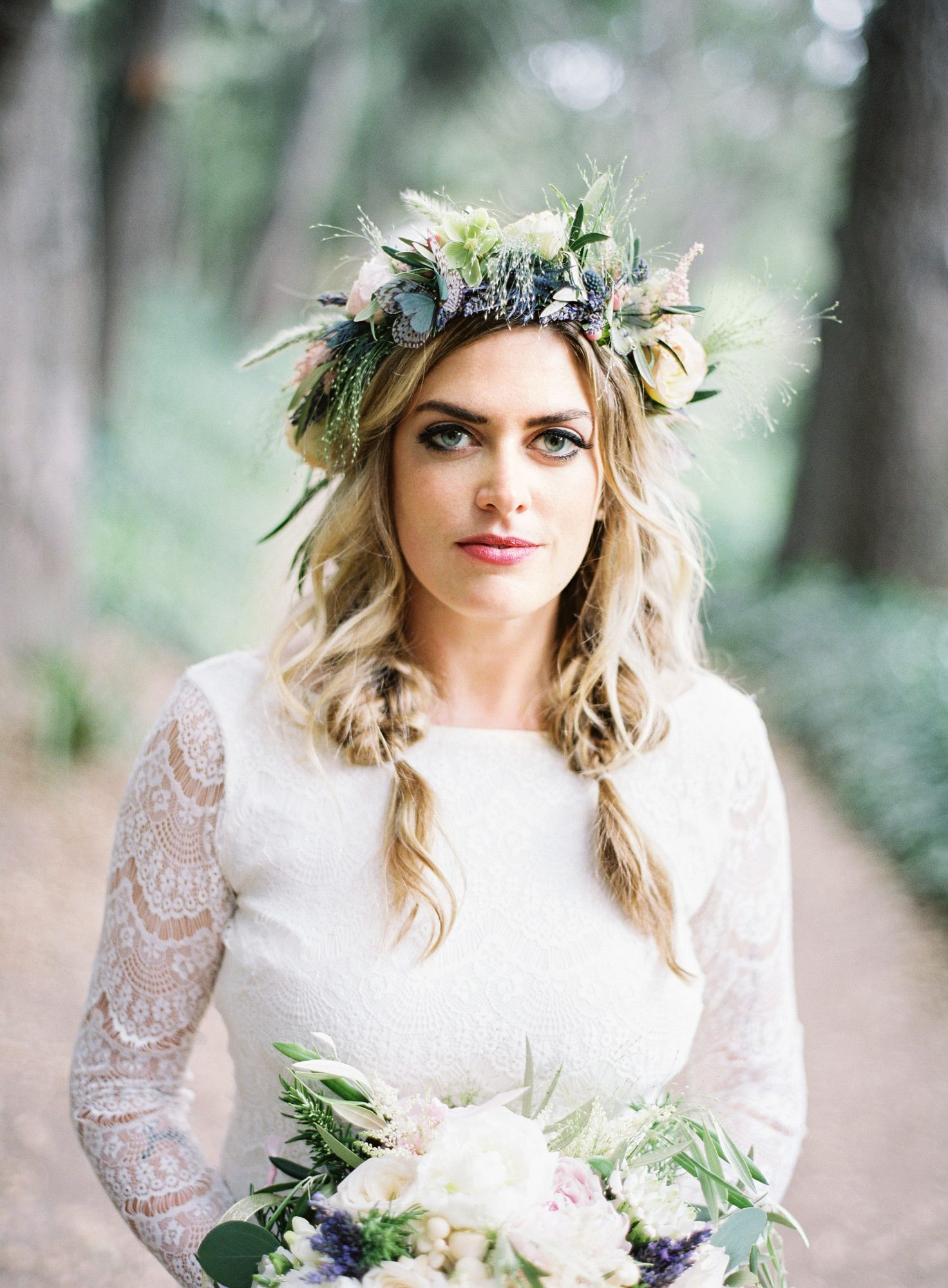 jackie dave wedding flower crown