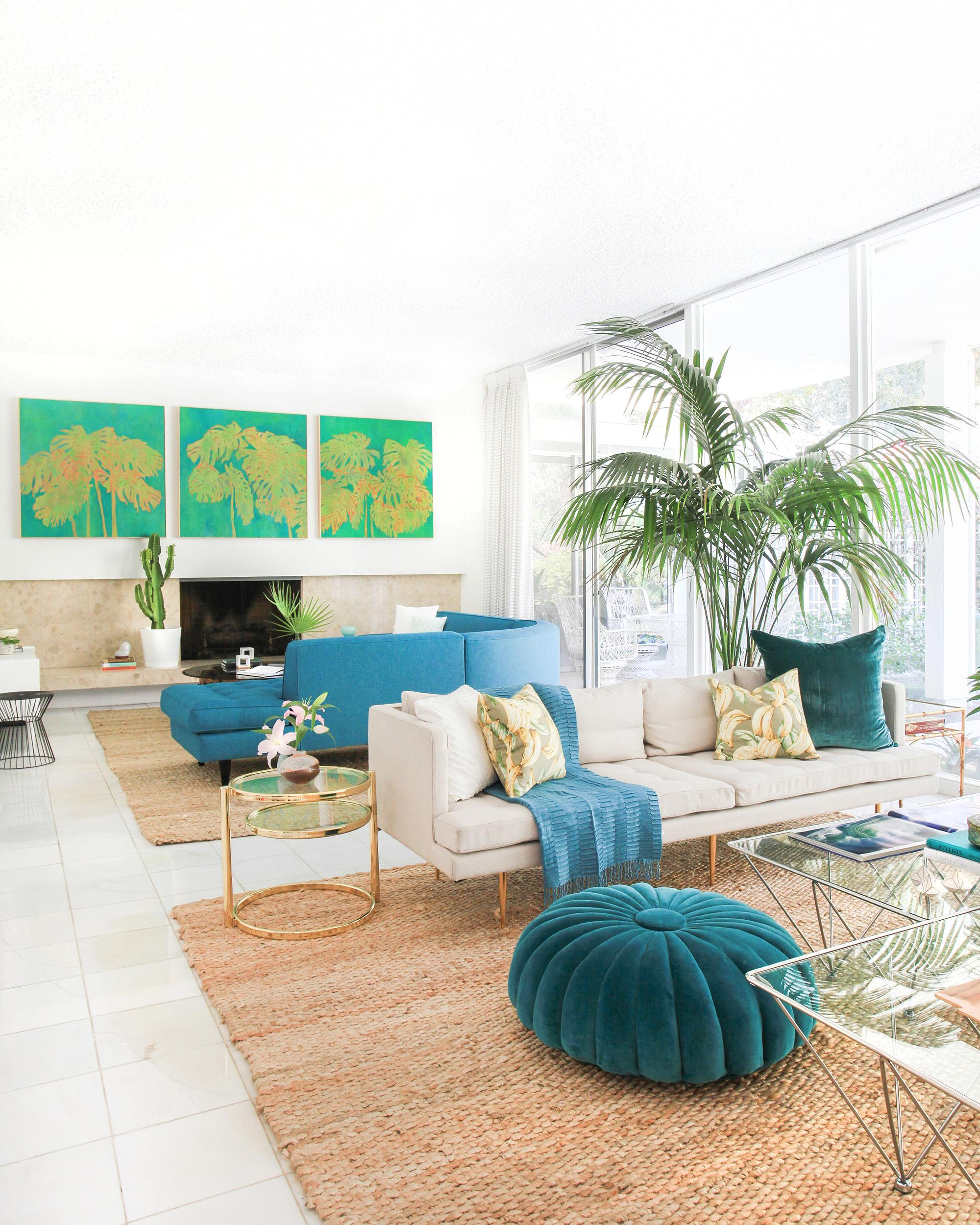 Kelly Oxford's Family Room Designed by Homepolish