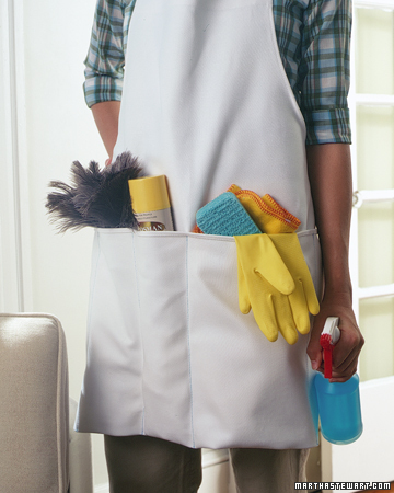 Carry Your Cleaning Supplies in an Apron
