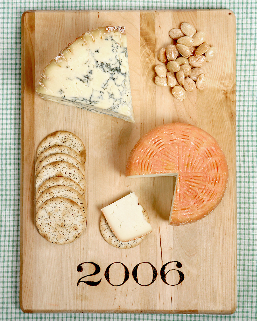 Make ladies-only wine-and-cheese nights a must when you surprise everyone with cutting boards marked with the year you met or their initials.