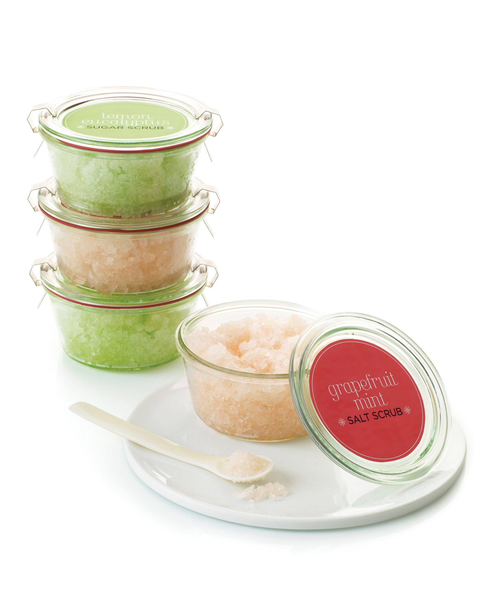 Pamper your gals with a homemade sugar or salt scrub that will leave their skin feeling silky-smooth. Spoon into cute little canning jars and seal with our free label clip art.