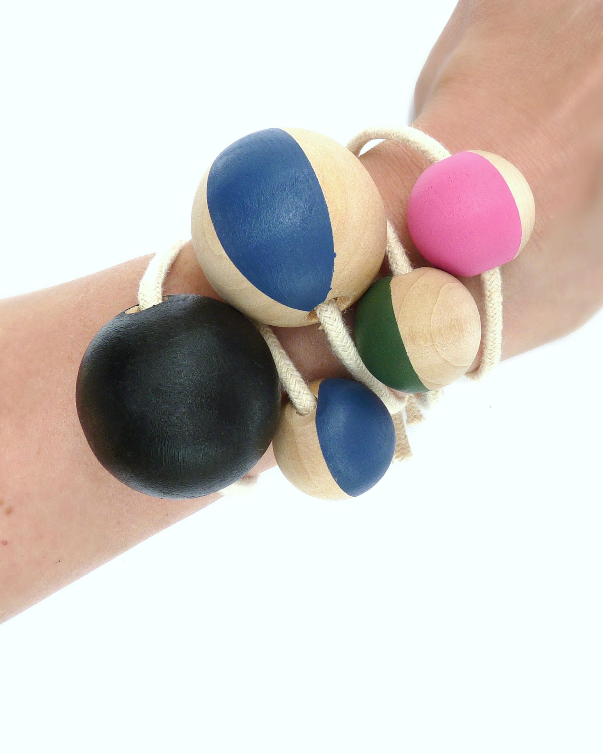 DIY Painted Bead Bracelets Layered