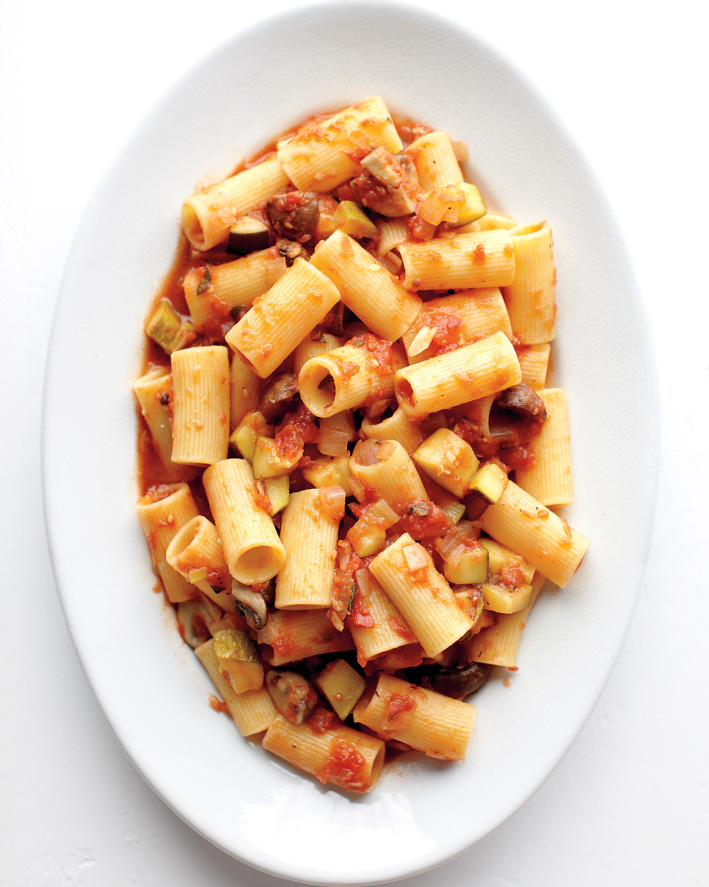 Rigatoni with Chunky Vegetable Sauce