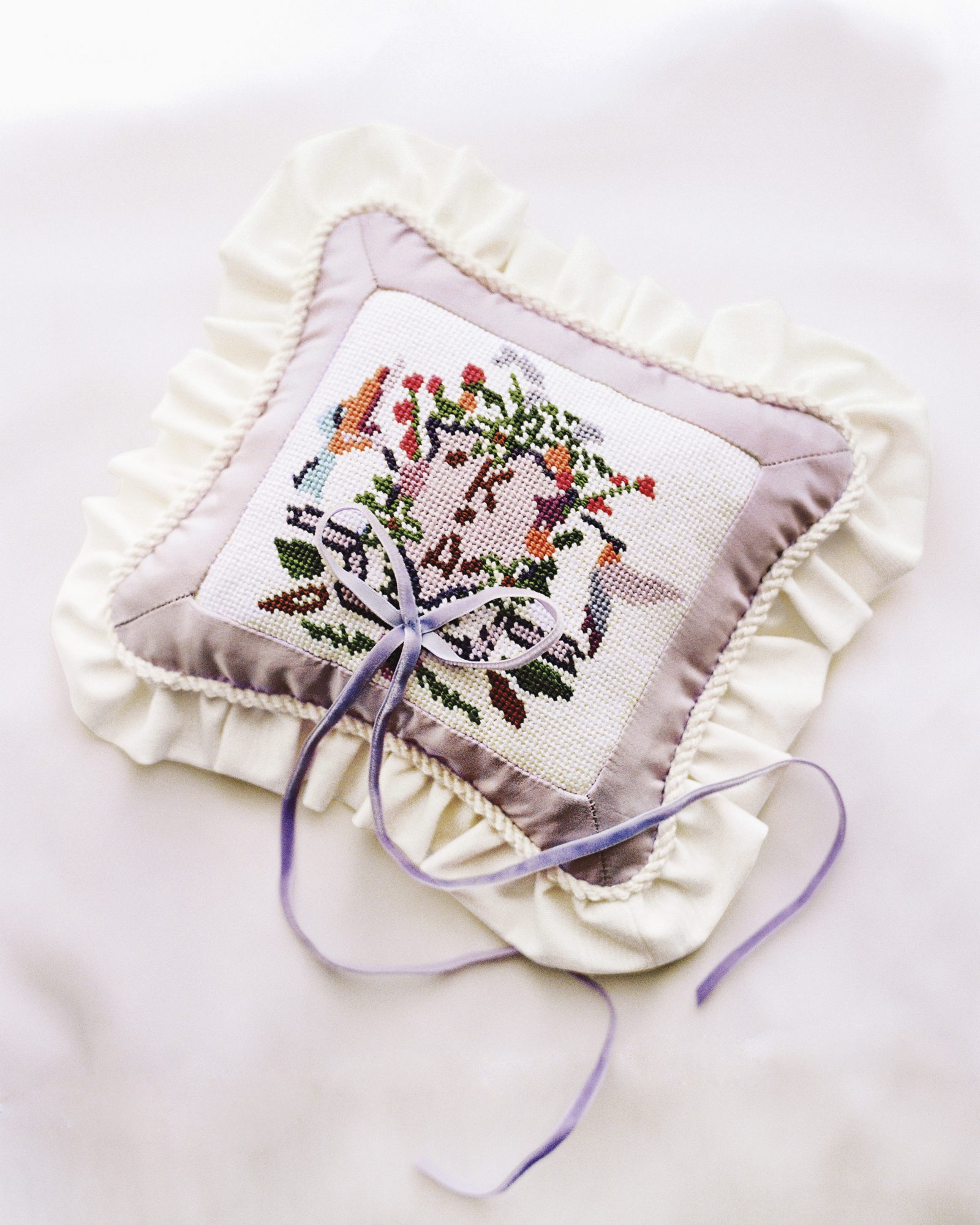 A Needlepointed Pillow