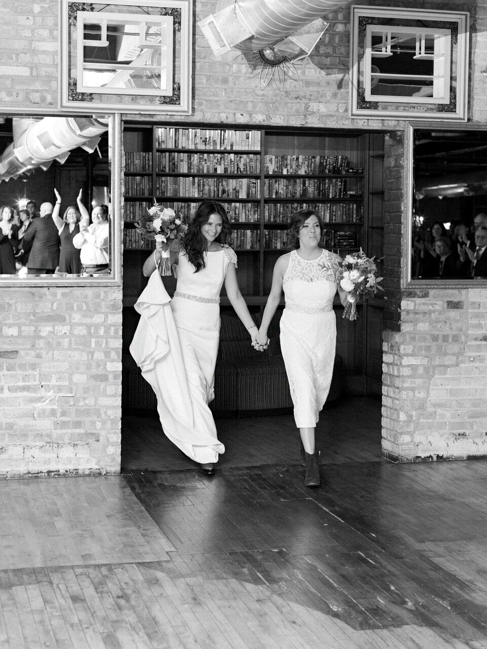 Kick off the party with a special reception entrance, just like these brides did.