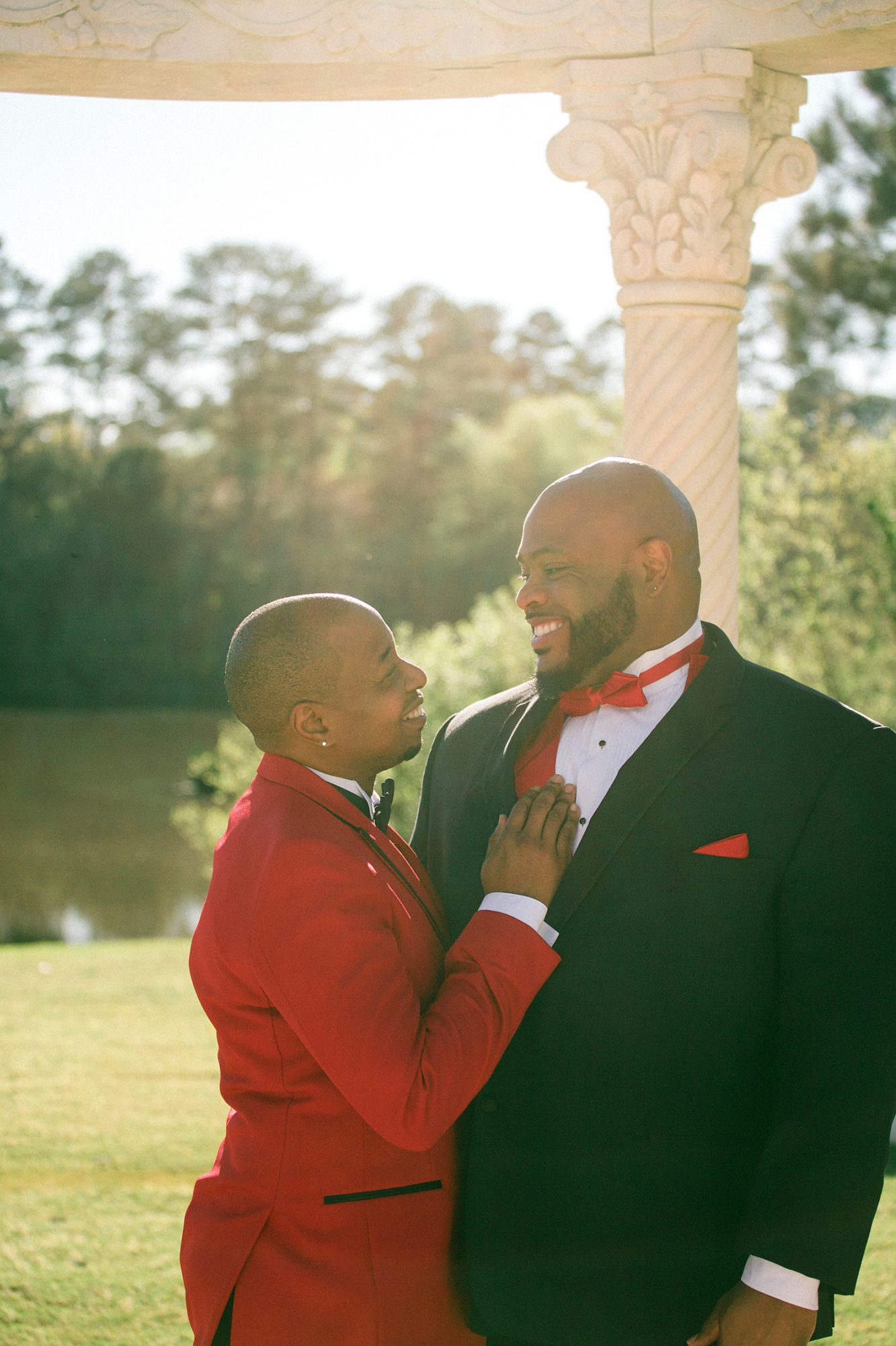 The expressions of these grooms said it all as they were photographed on their wedding day.