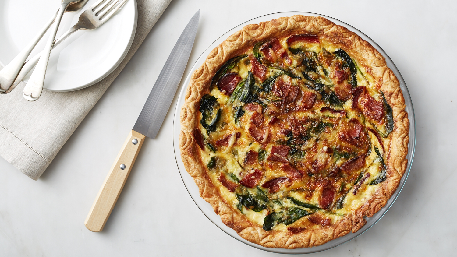 The Diplomat: Bacon and Spinach Quiche
