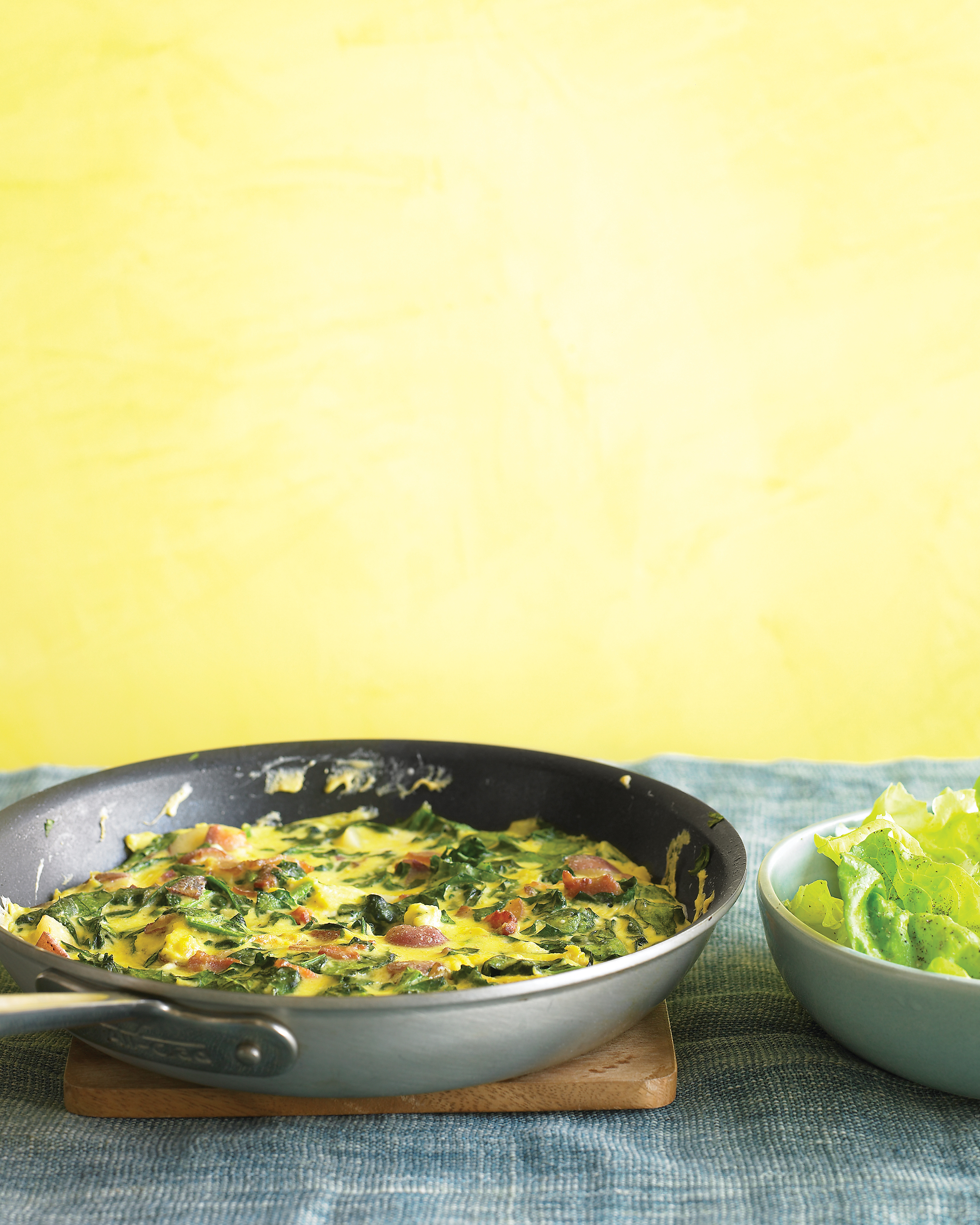 The Crowd-Pleaser: Spinach and Bacon Frittata