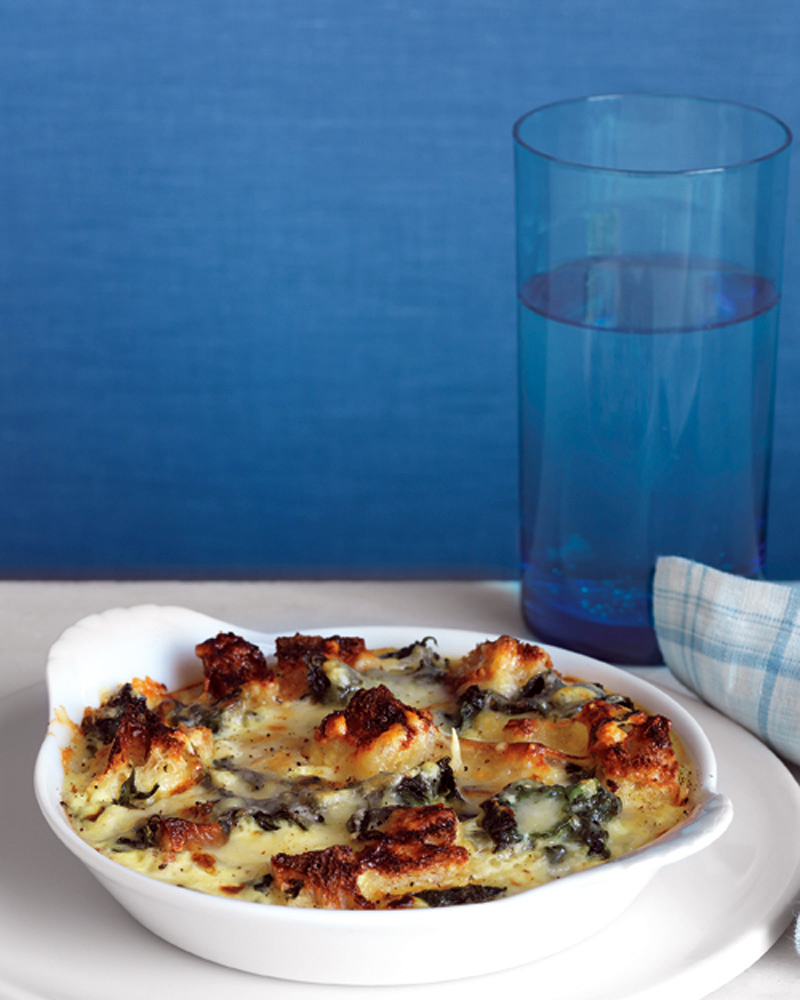 Spinach and Cheddar Strata