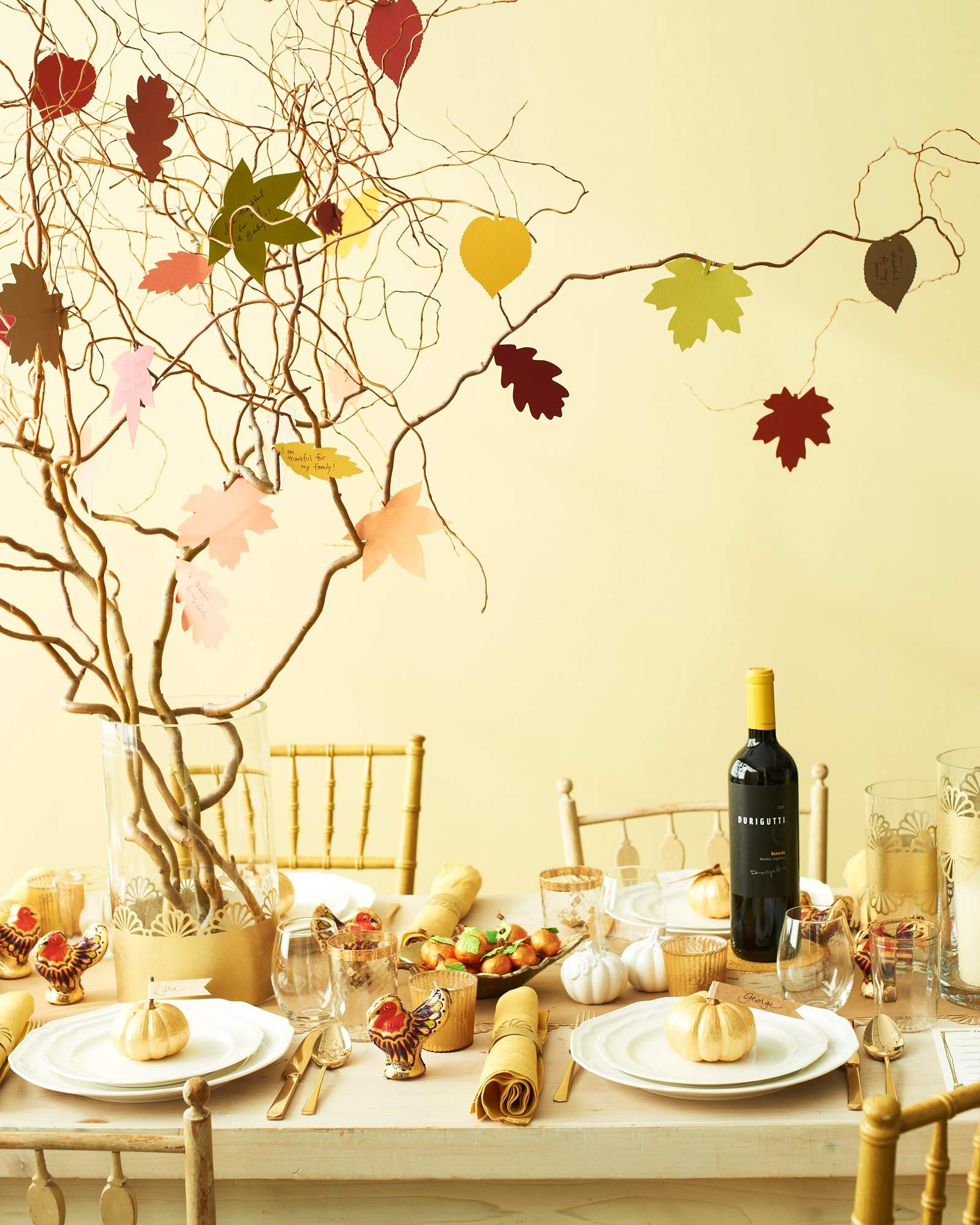 Thankful Tree Table Setting