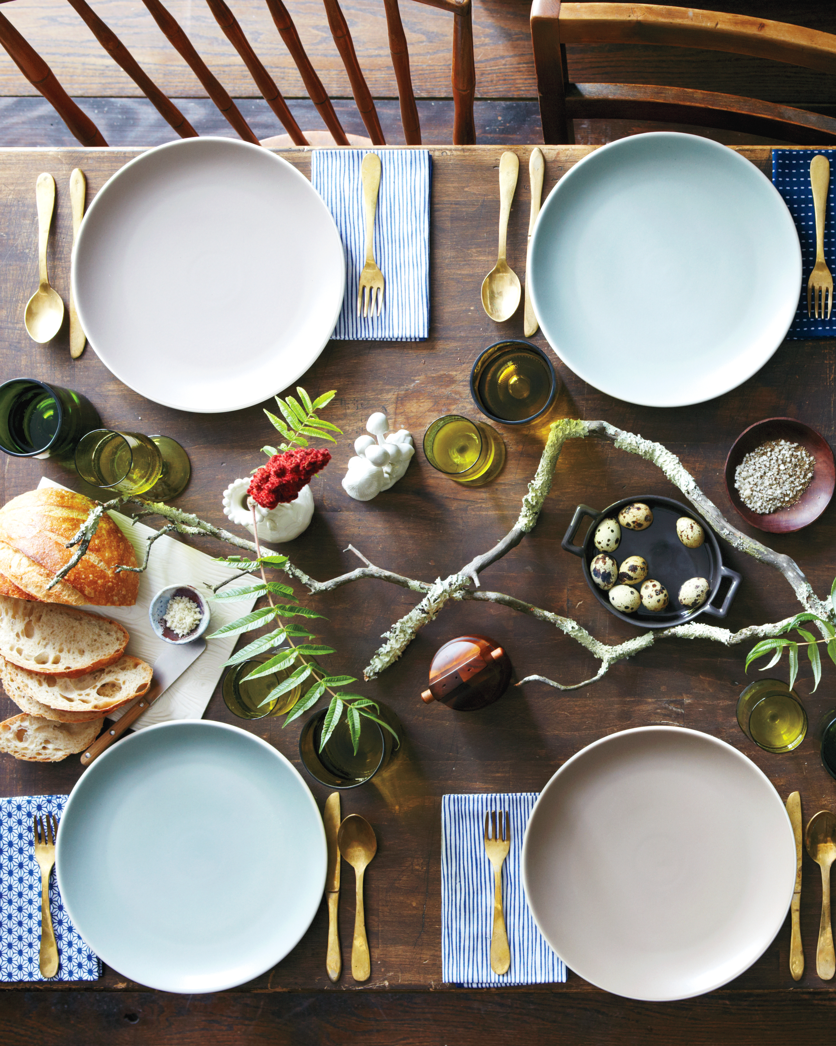 Foraged Table Setting
