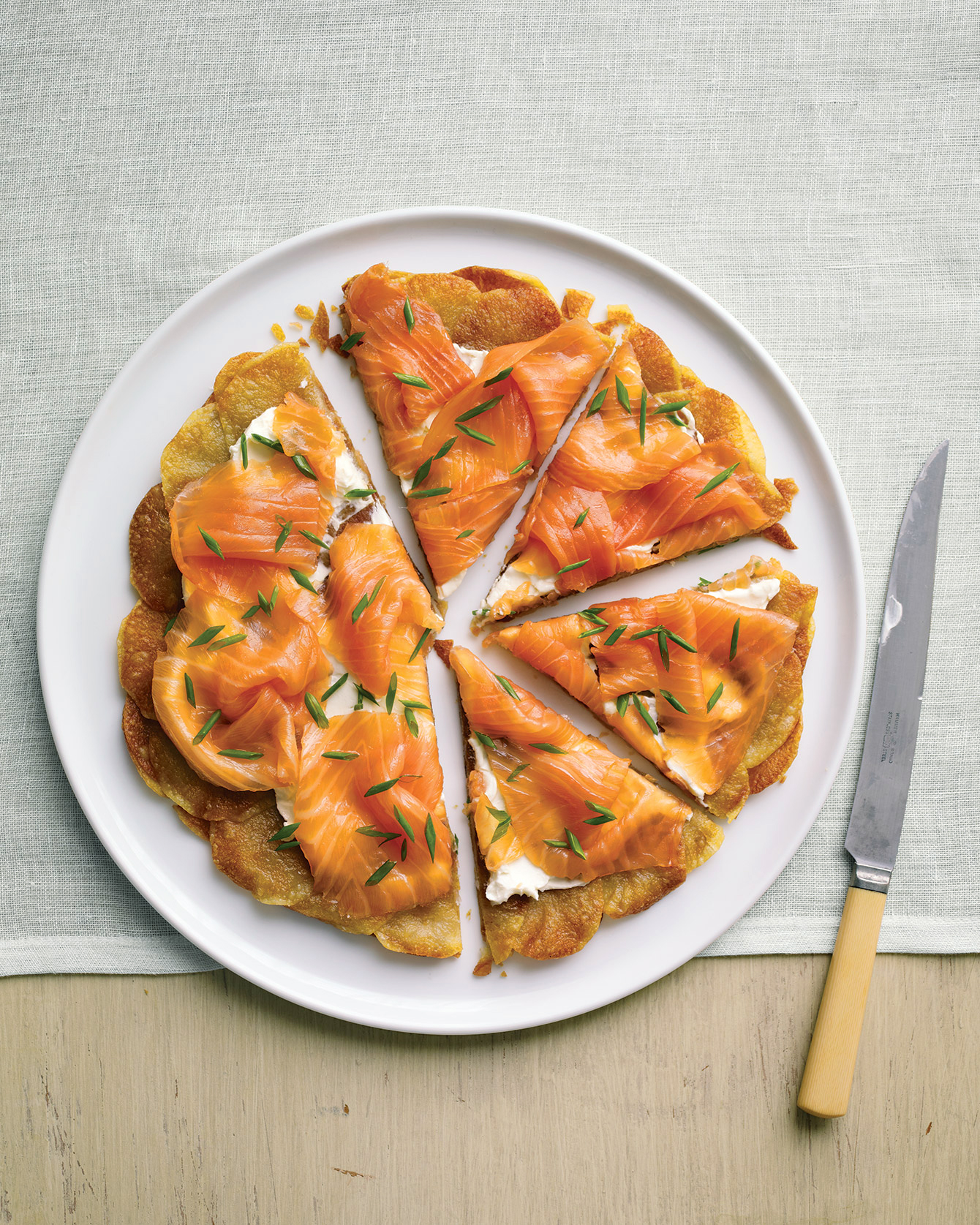 Potato Galette with Smoked Salmon