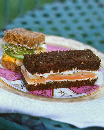 Smoked Salmon and Endive Tea Sandwiches