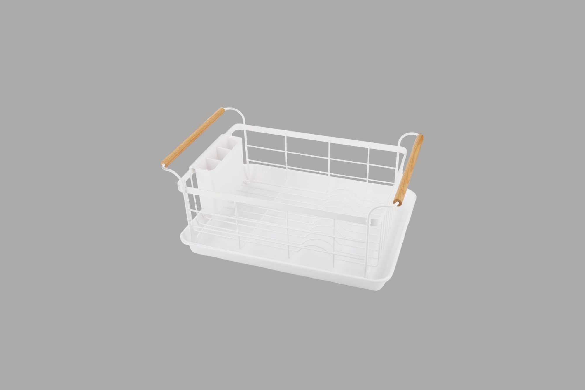 "Crate & Barrel ""Tosca"" White Dish Rack"