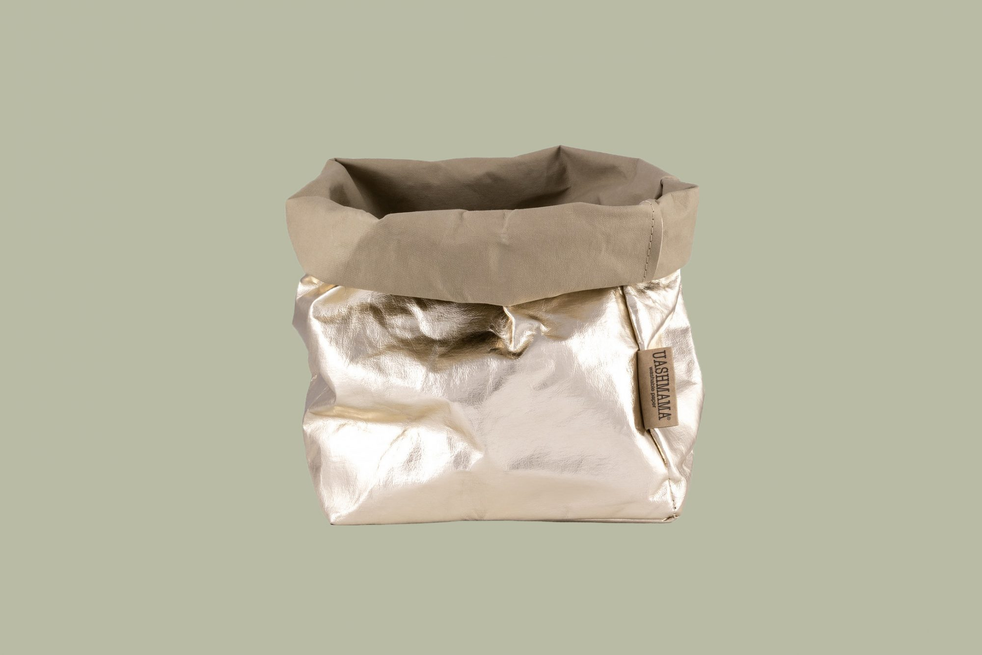 UASHMAMA Paper Bag Metallic Large Plus
