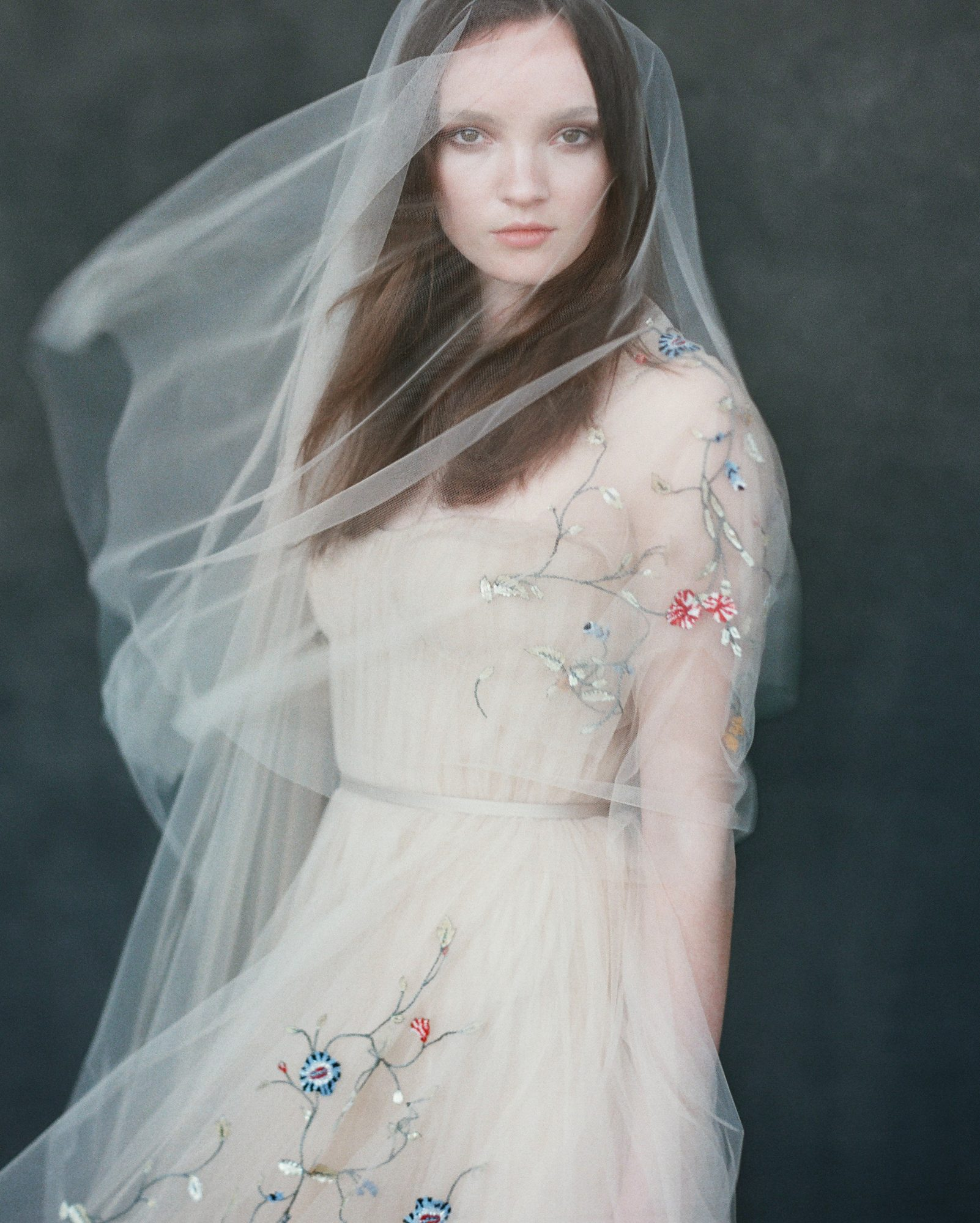 Embroidered Tulle Veil