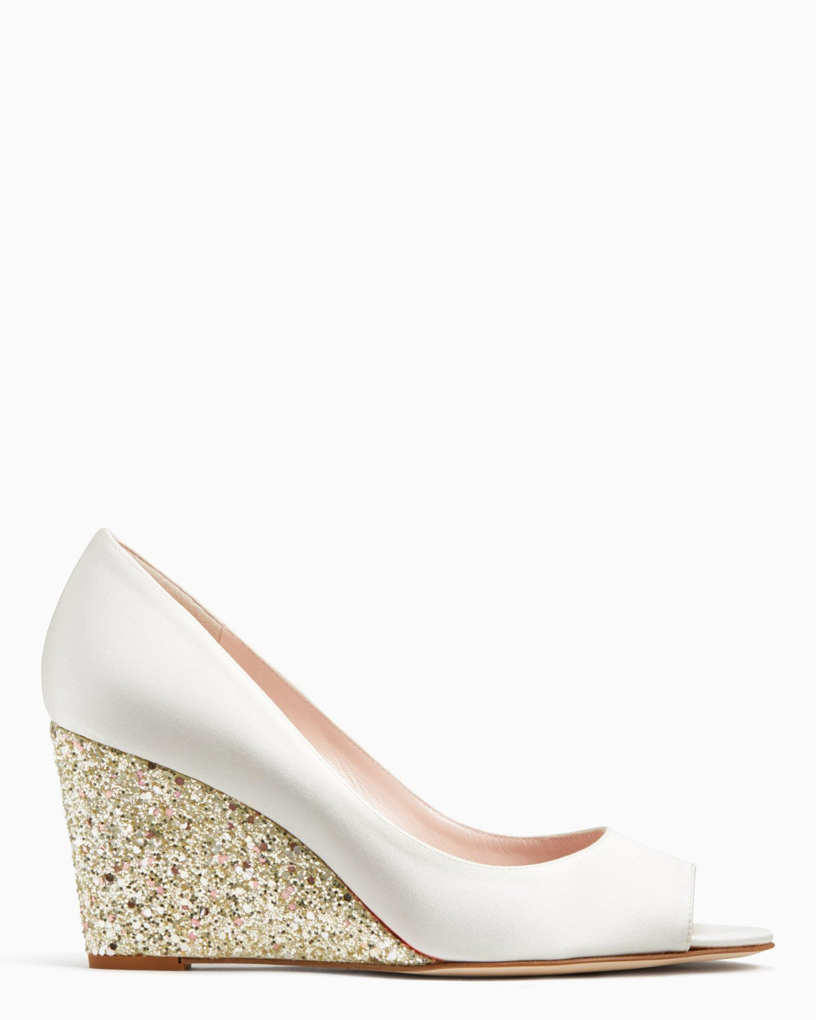 outdoor wedding shoes sparkly wedges