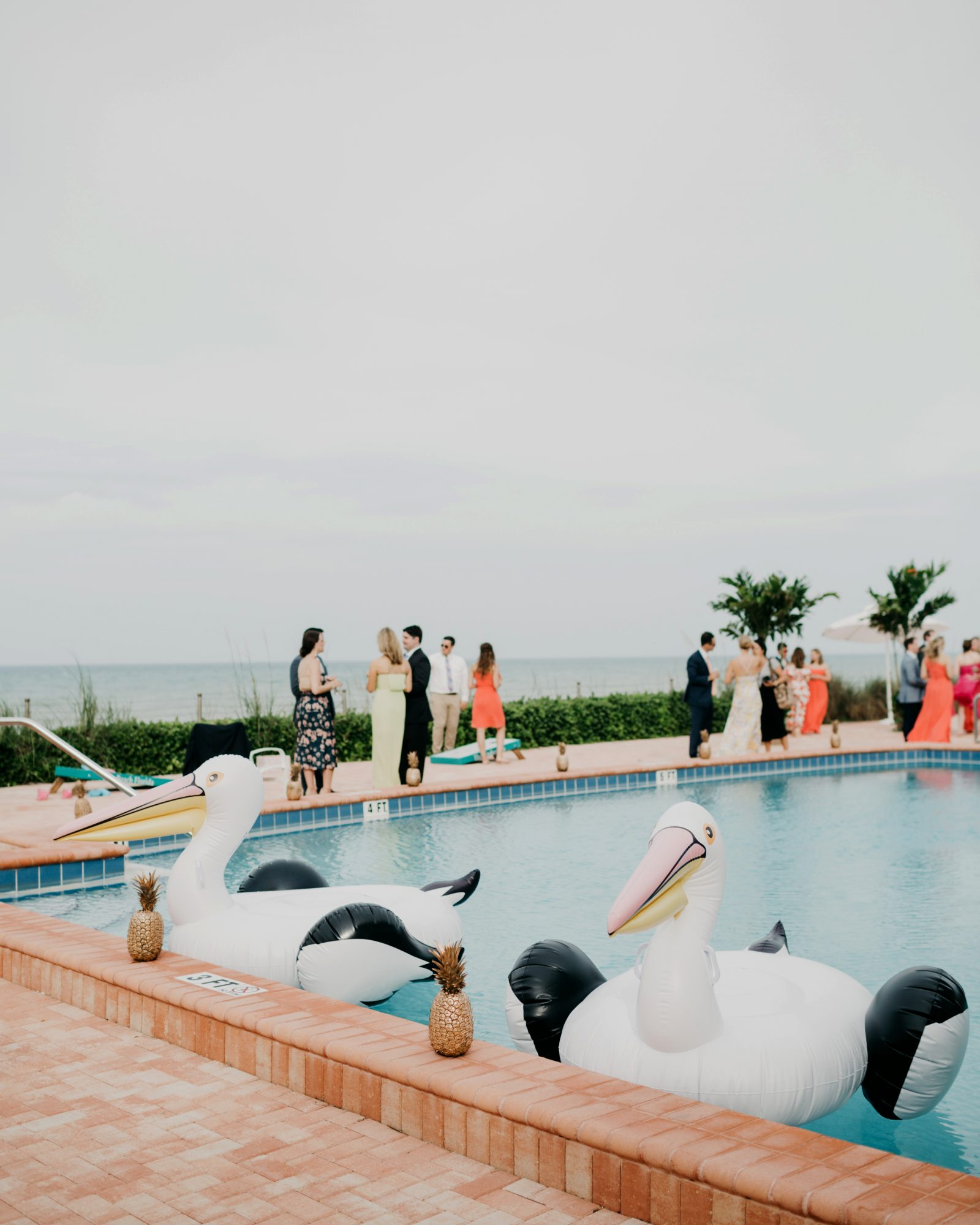 summer reception ideas poolside reception