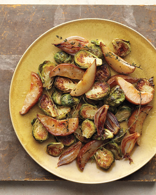 On the Side: Roasted Brussels Sprouts with Pear