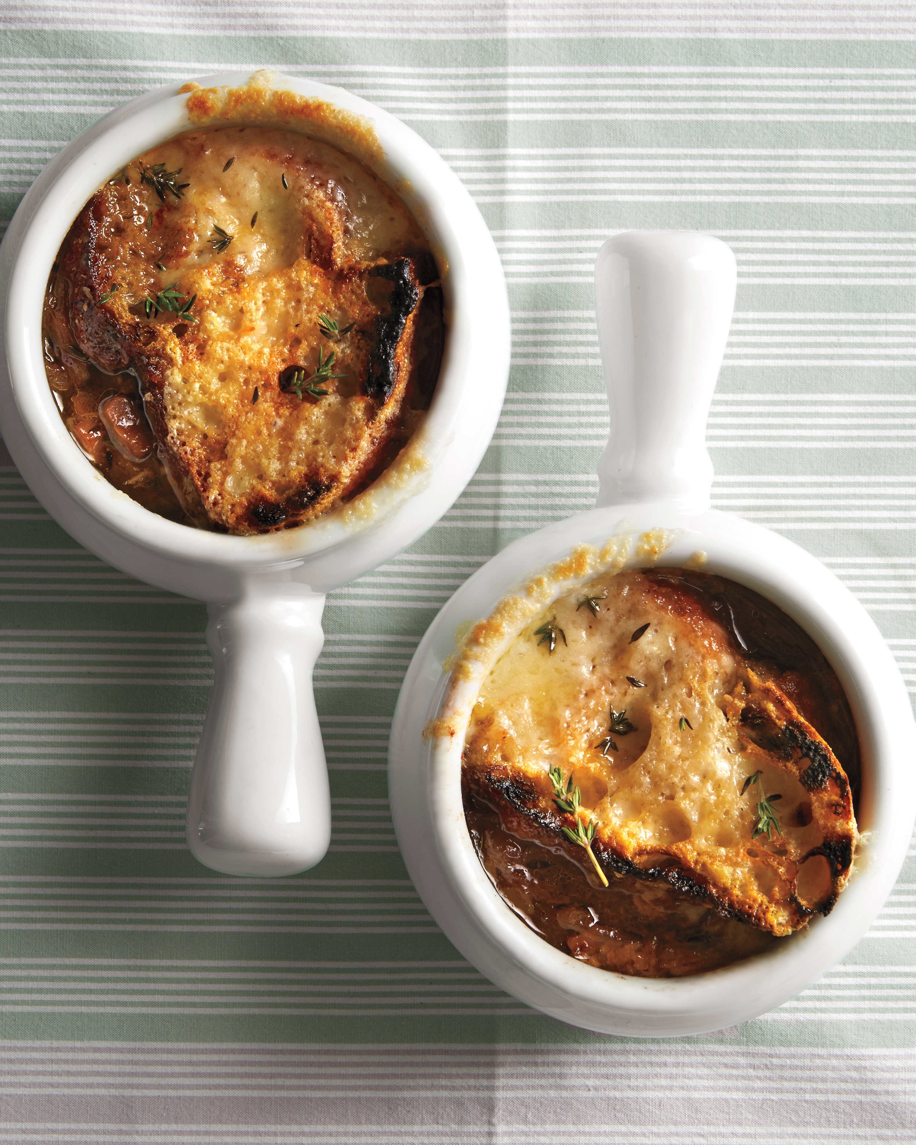 Vegetarian French Onion Soup with Mushrooms