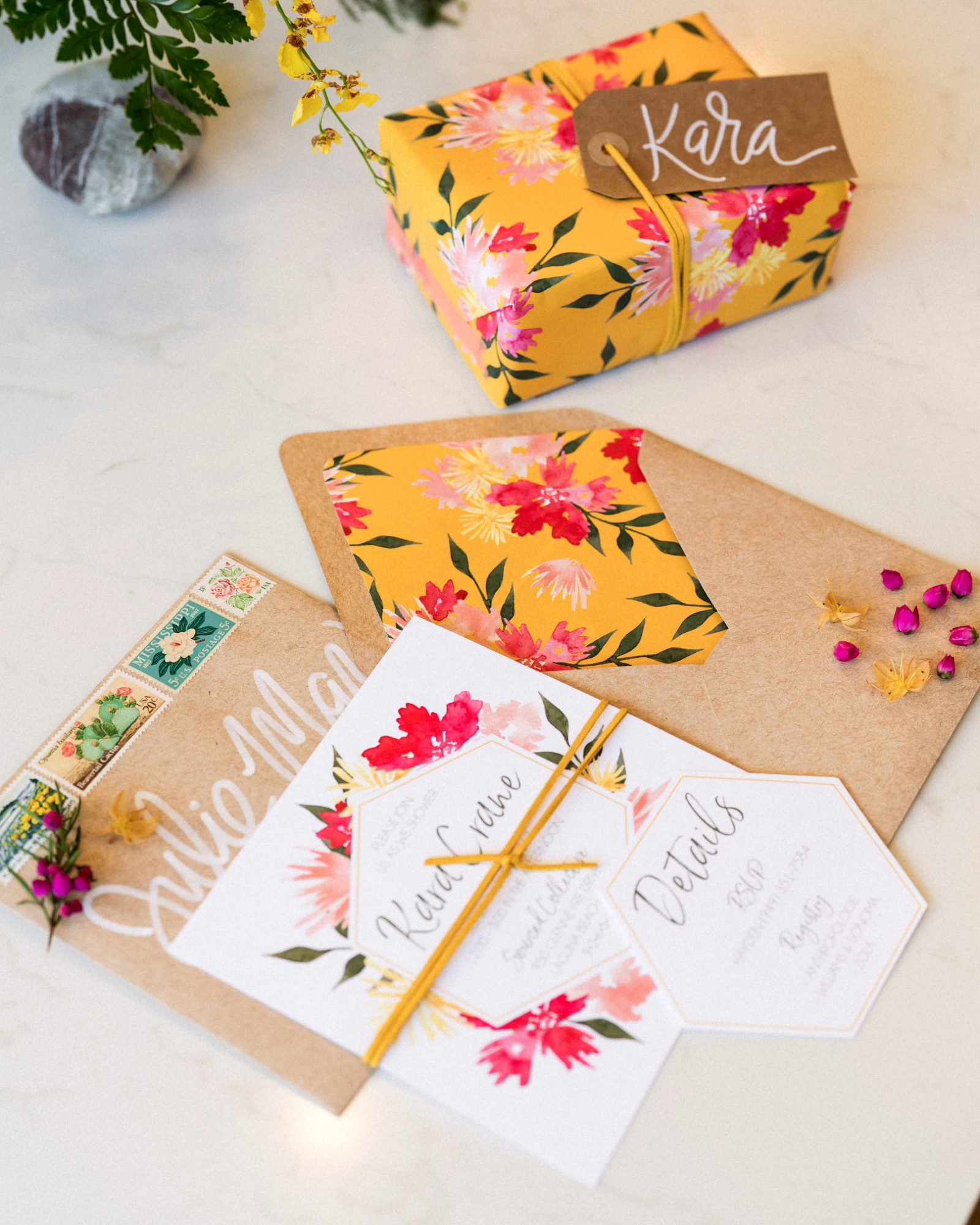kara bridal shower invite