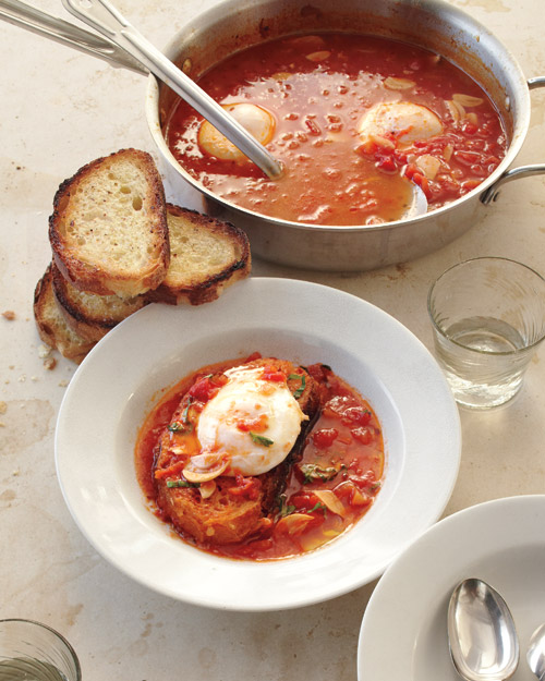 Eggs: Tomato Soup with Poached Eggs