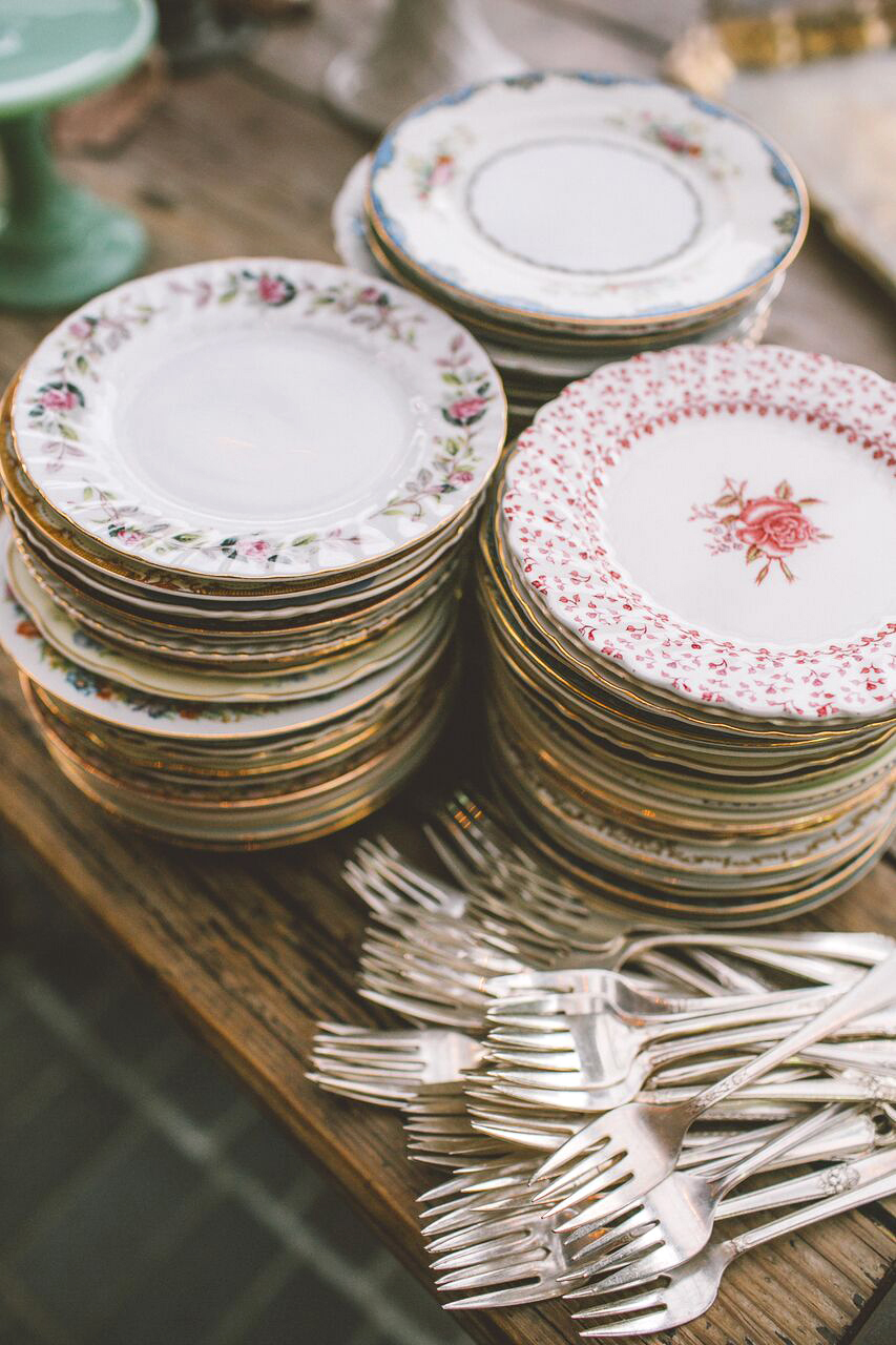 Mismatched Tableware