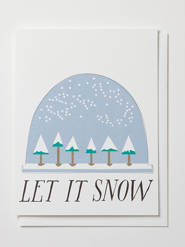 holiday cards banquet atelier let it snow