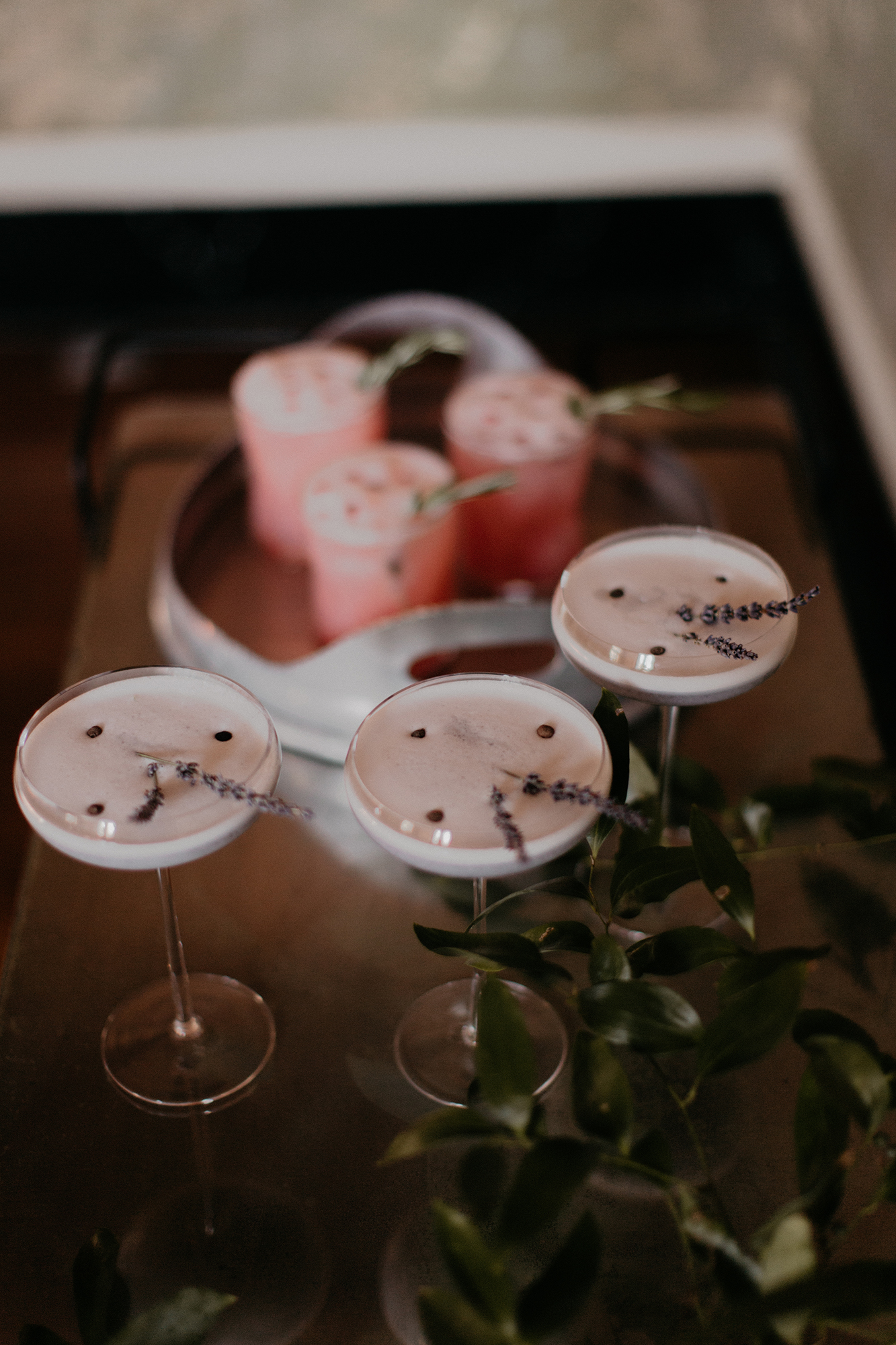 winter bridal shower holiday cocktail