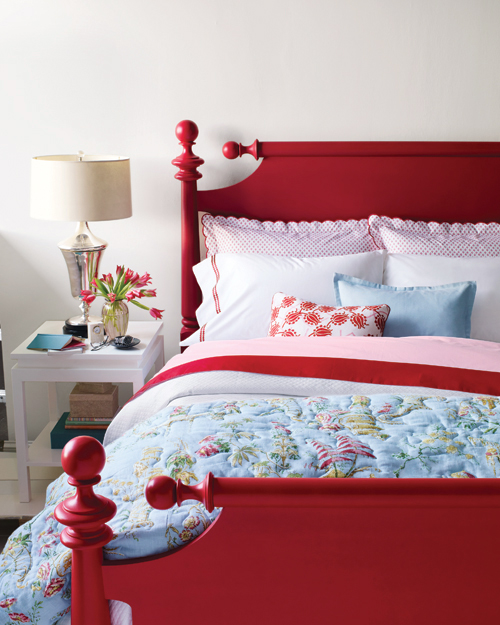 Pop-of-Color Bed