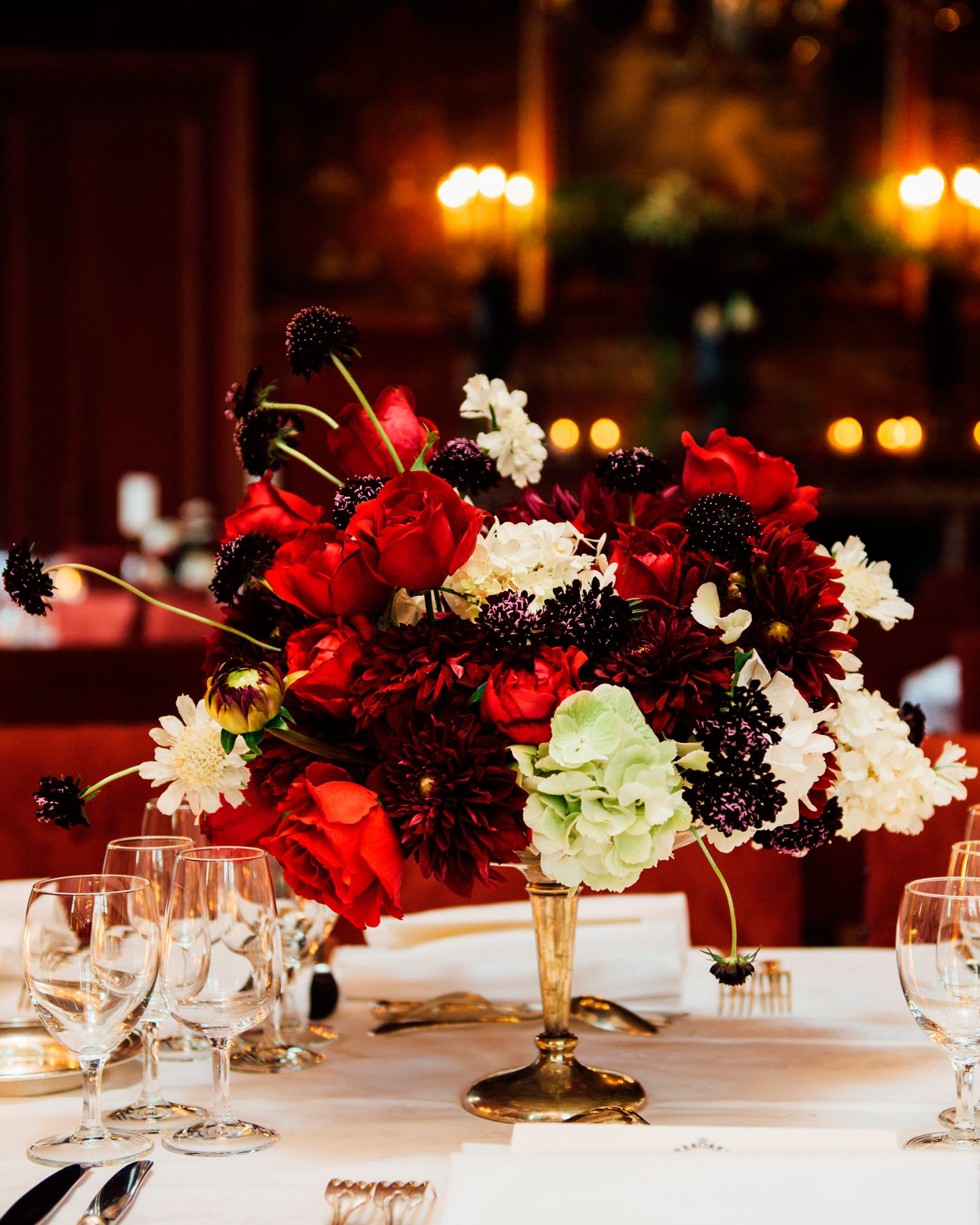Dark Red Centerpieces