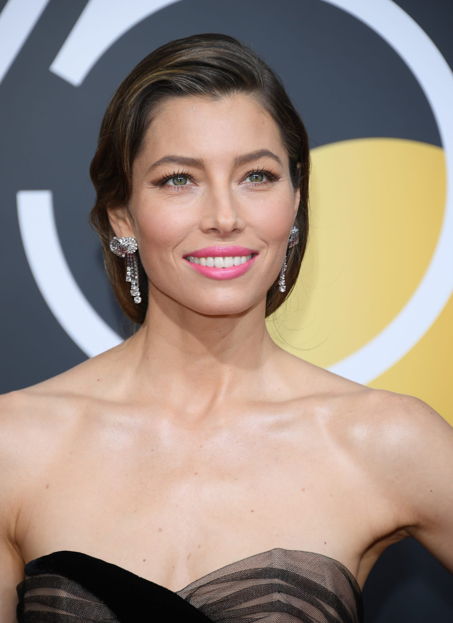 Jessica Biel's Low Ponytail