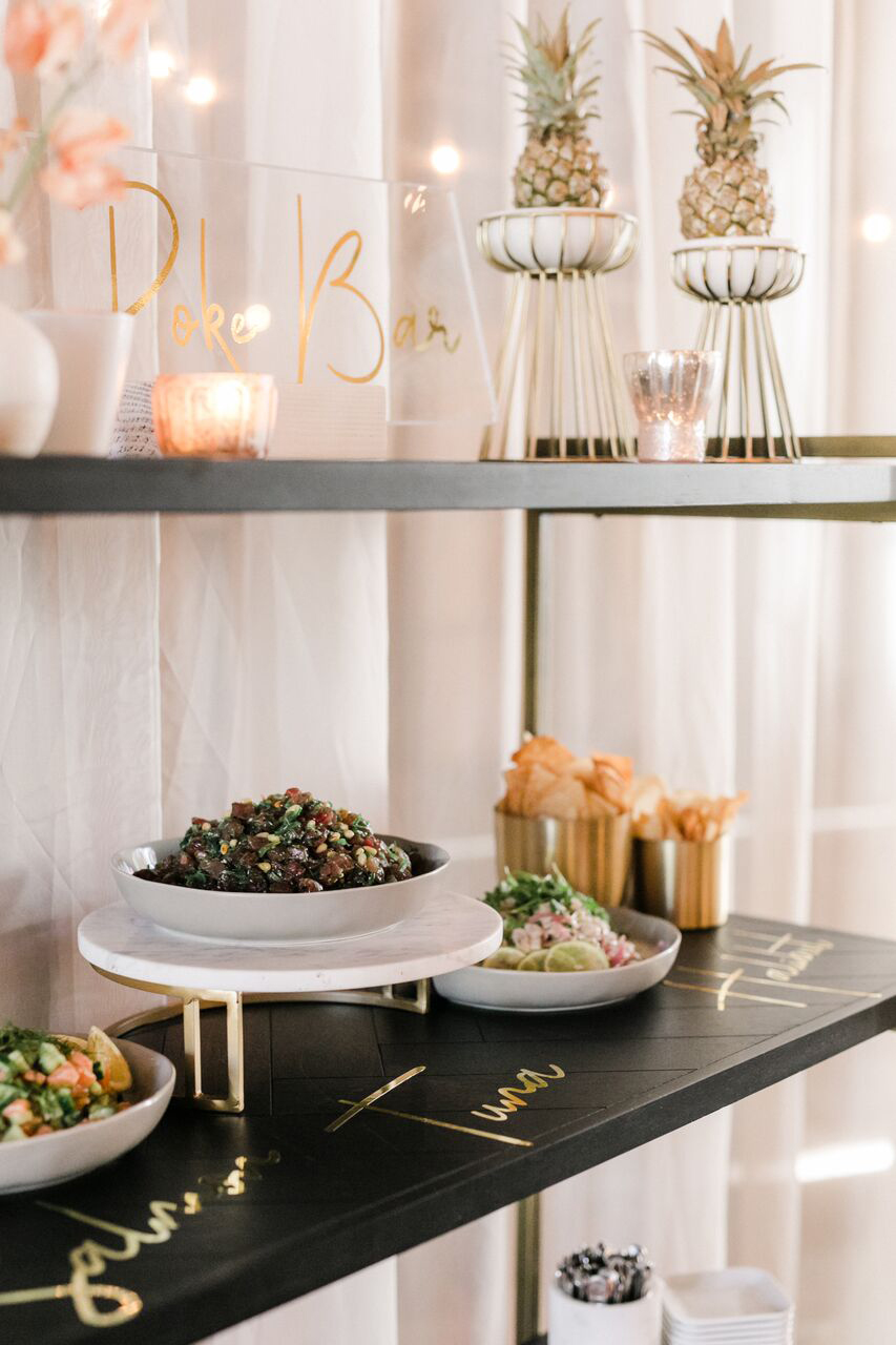 wedding food bars anna delores photography