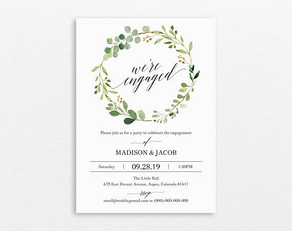 20 Engagement Party Invitations Martha Stewart