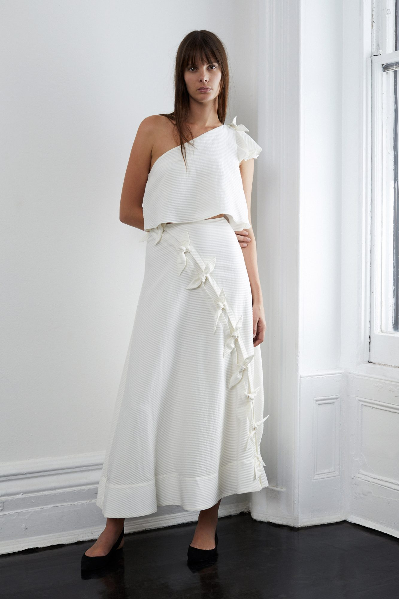lein fall 2018 wedding dress one shoulder two piece ties