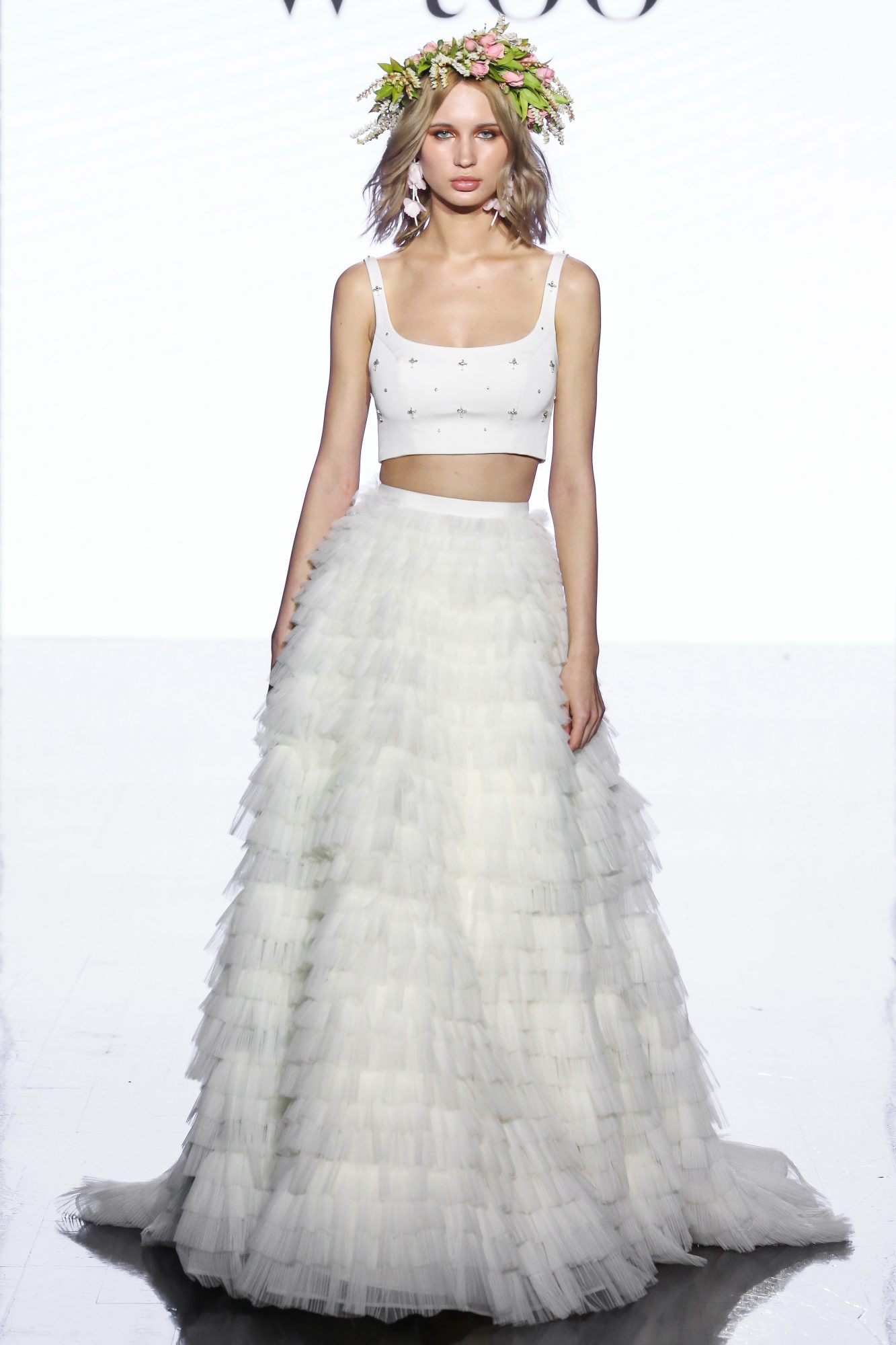wtoo by watters separates ruffled skirt wedding dress spring 2020