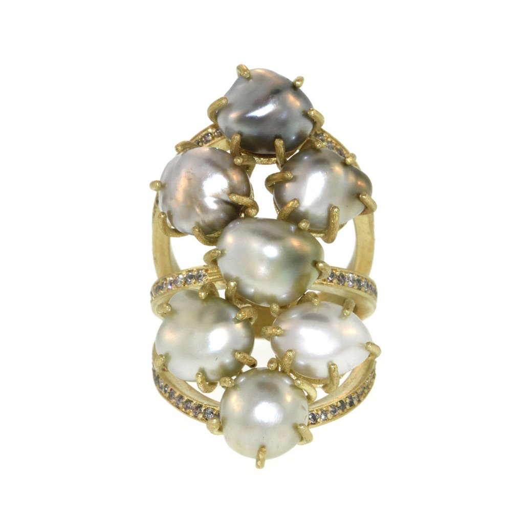 """""""The Seven Seas"""" Pearl Ring"""