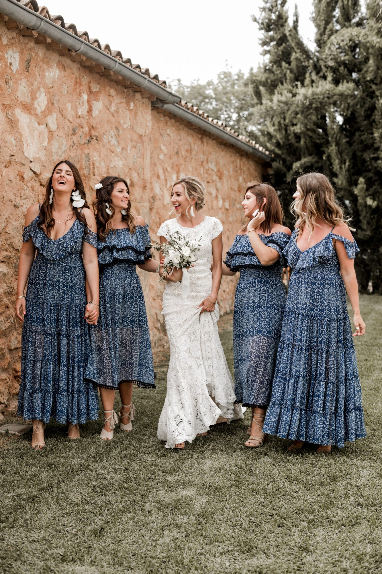 mismatched bridesmaids dresses lilly red