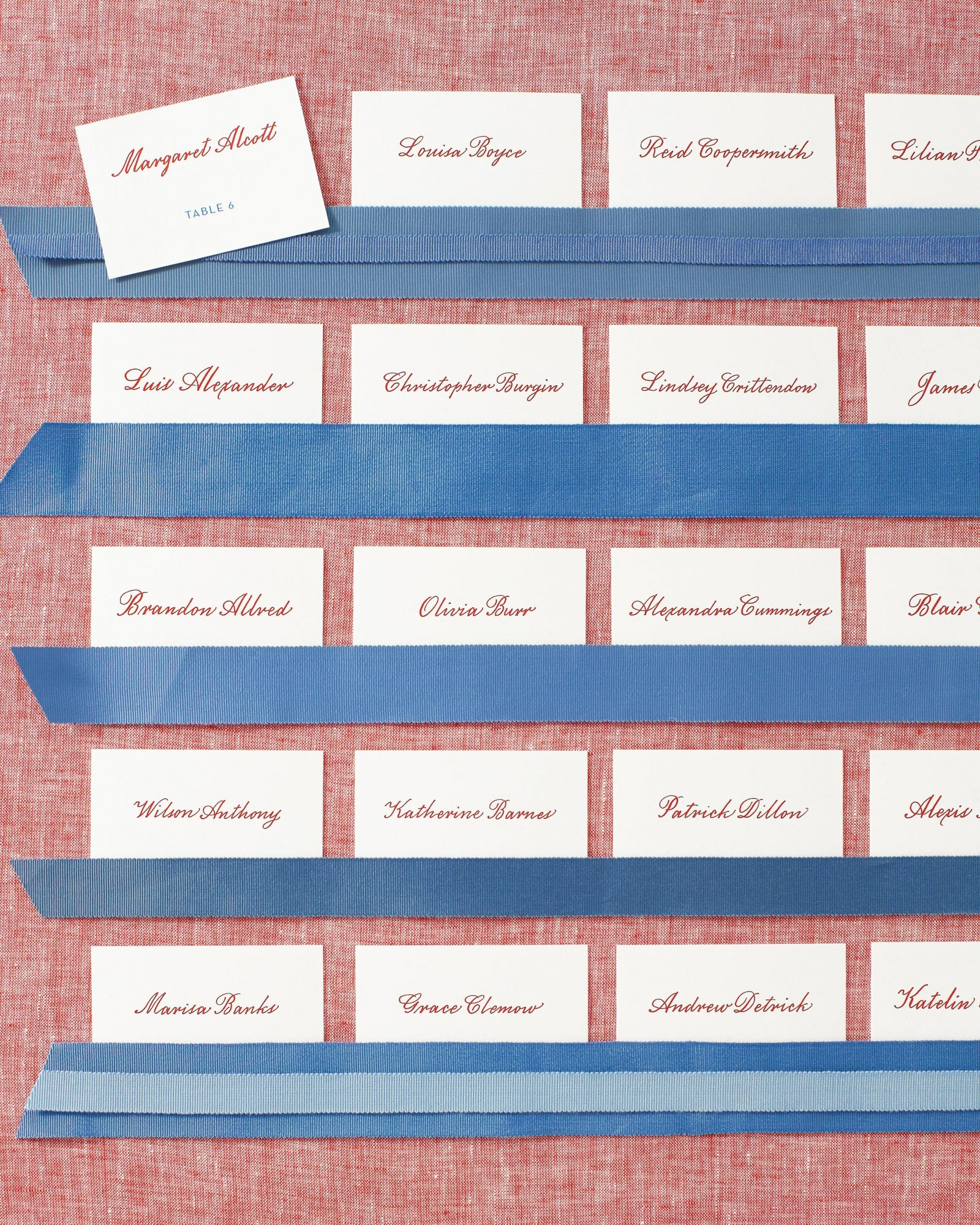 Create Red and Blue Seating Cards