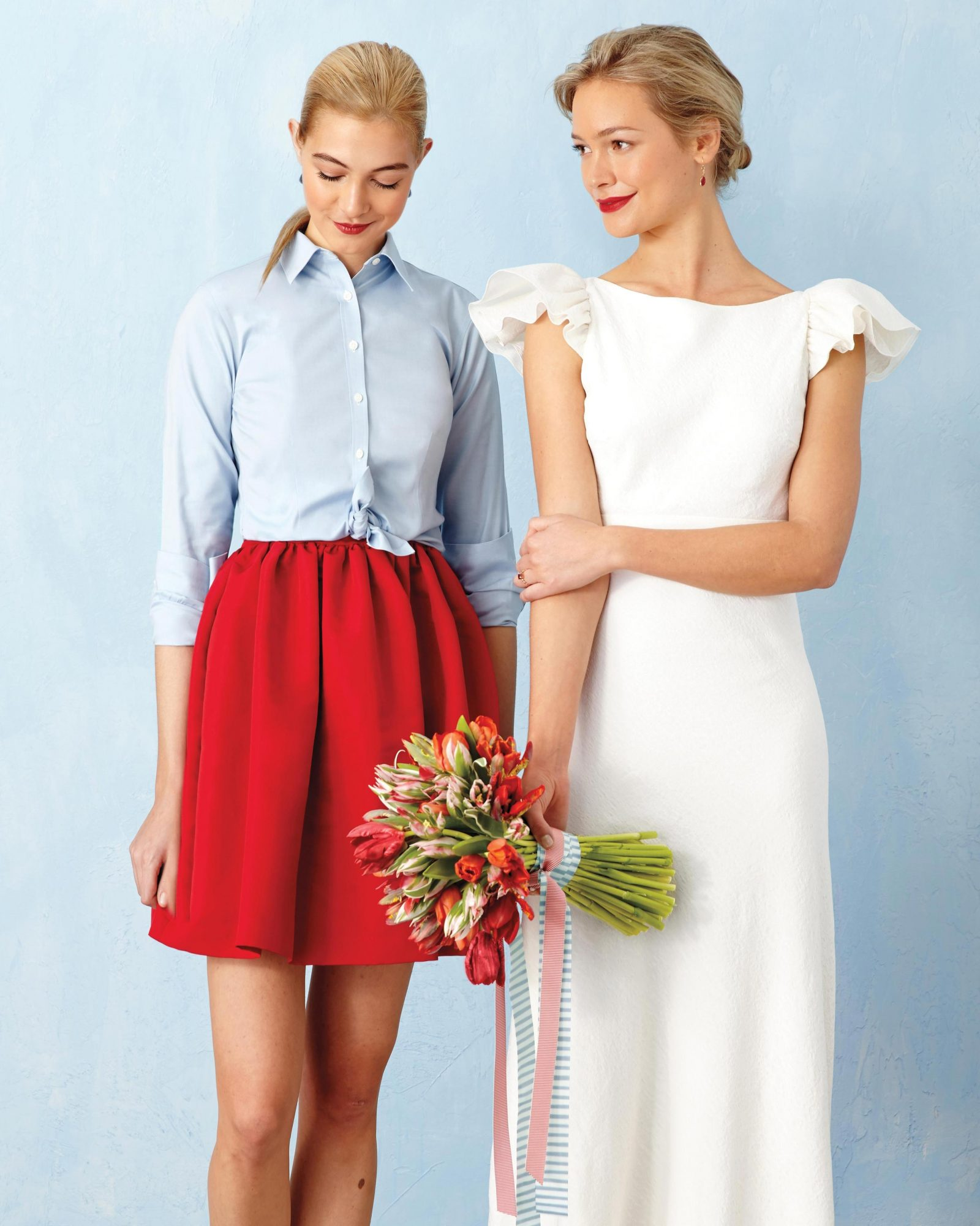 Dress Your Wedding Party in Red and Blue